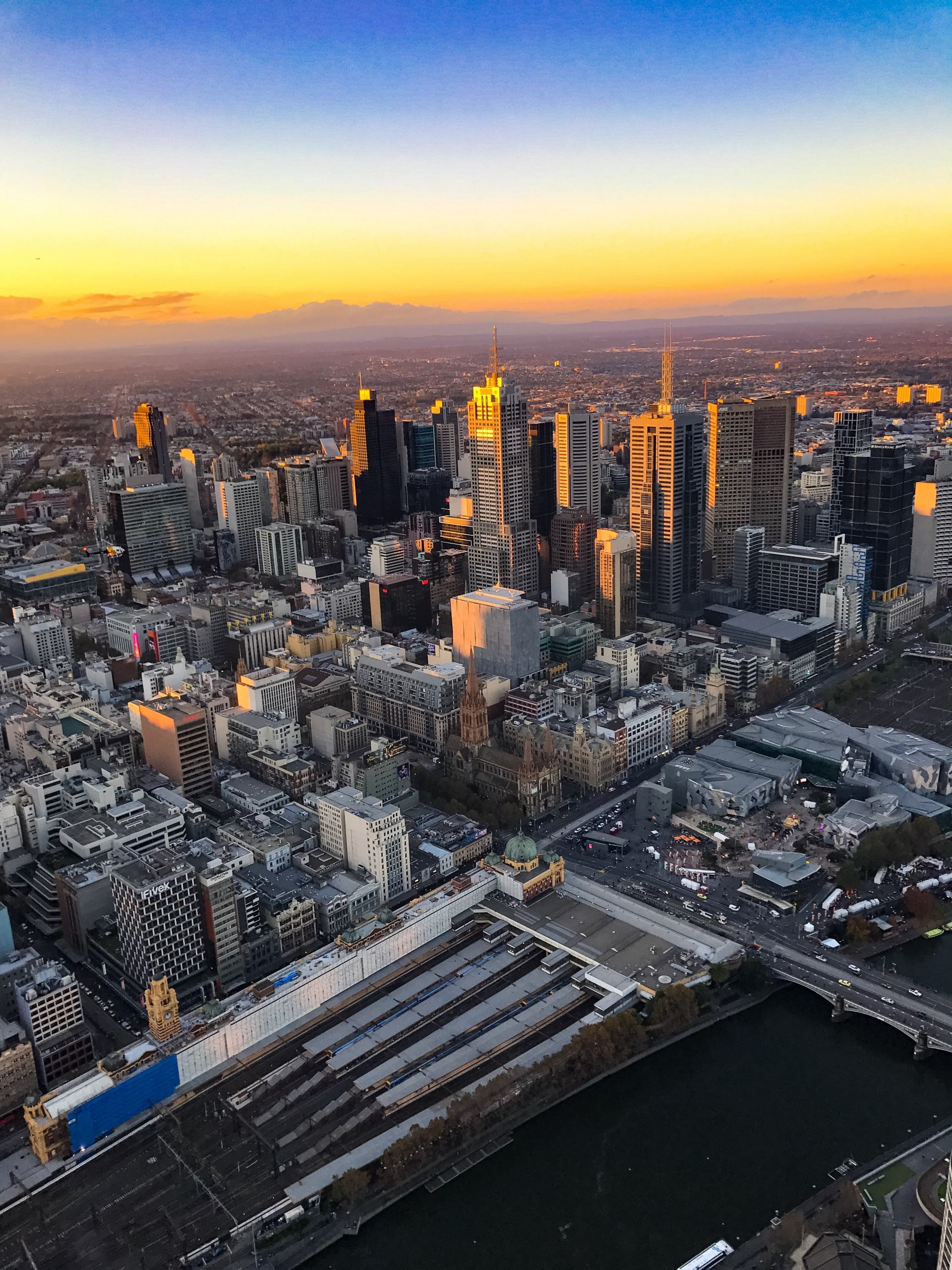 melbourne city from the eureka skydeck