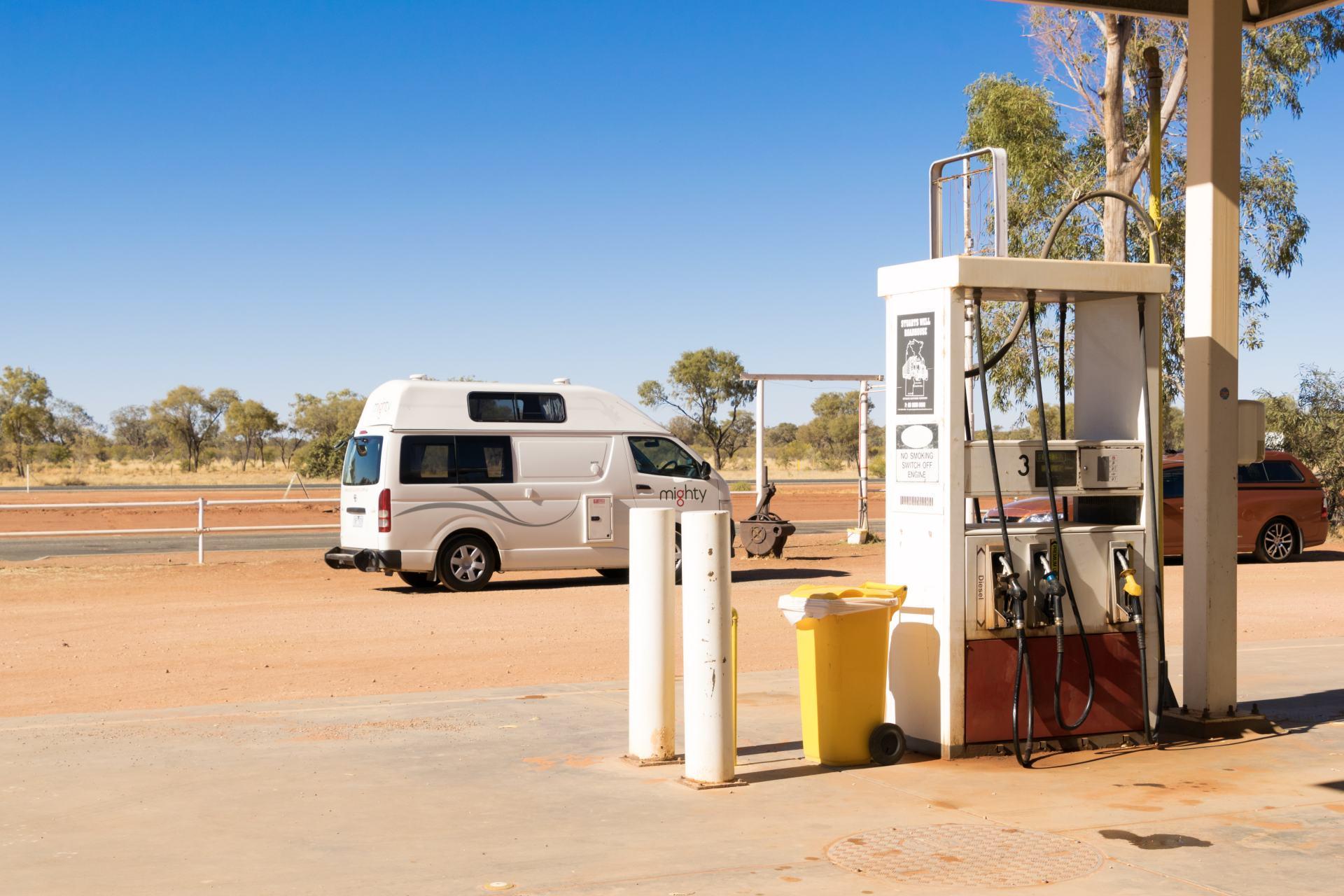 remote petrol station