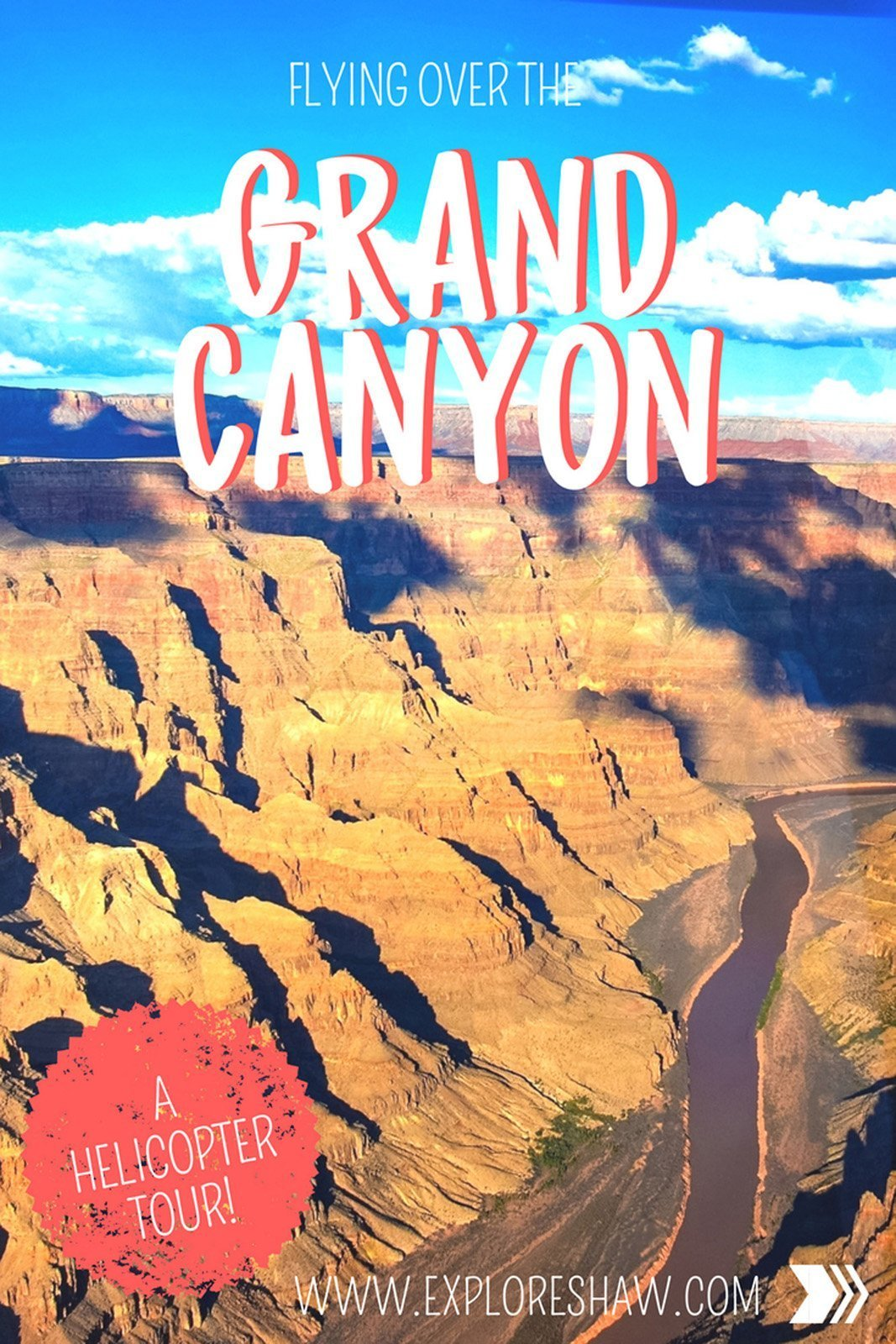 FLYING OVER THE GRAND CANYON FROM LAS VEGAS