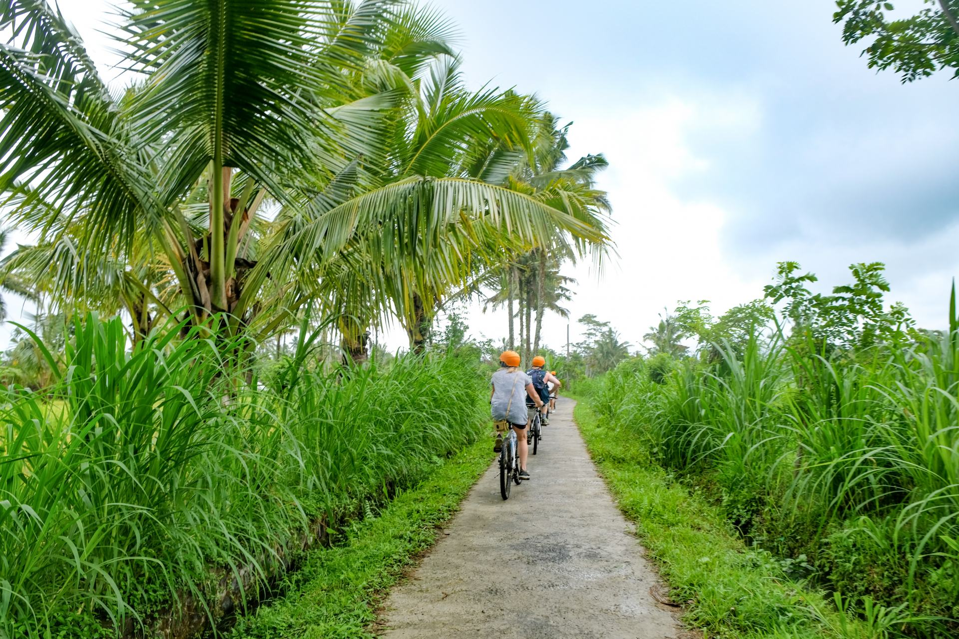 bicycle ride through bali island