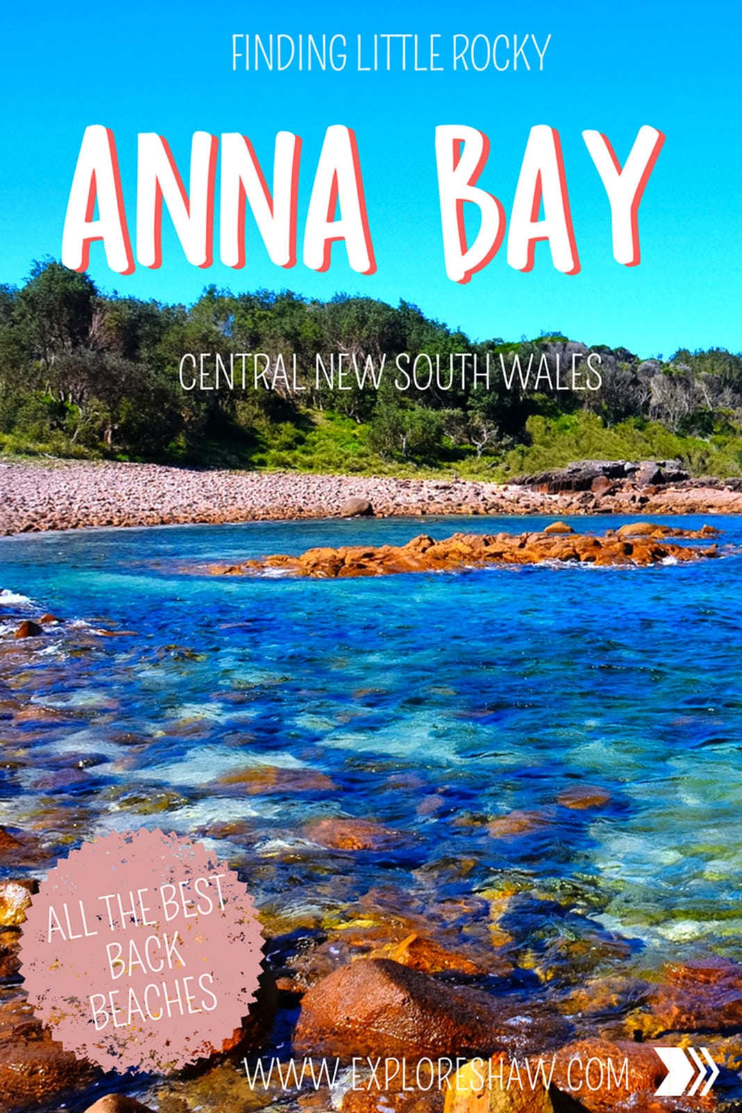 One of the best ways to explore Anna Bay and the Port Stephens region is to just pull into any dirt or sand track that looks big enough to fit a car and see what you find at the end. That's how we found and fell in love with Little Rocky!