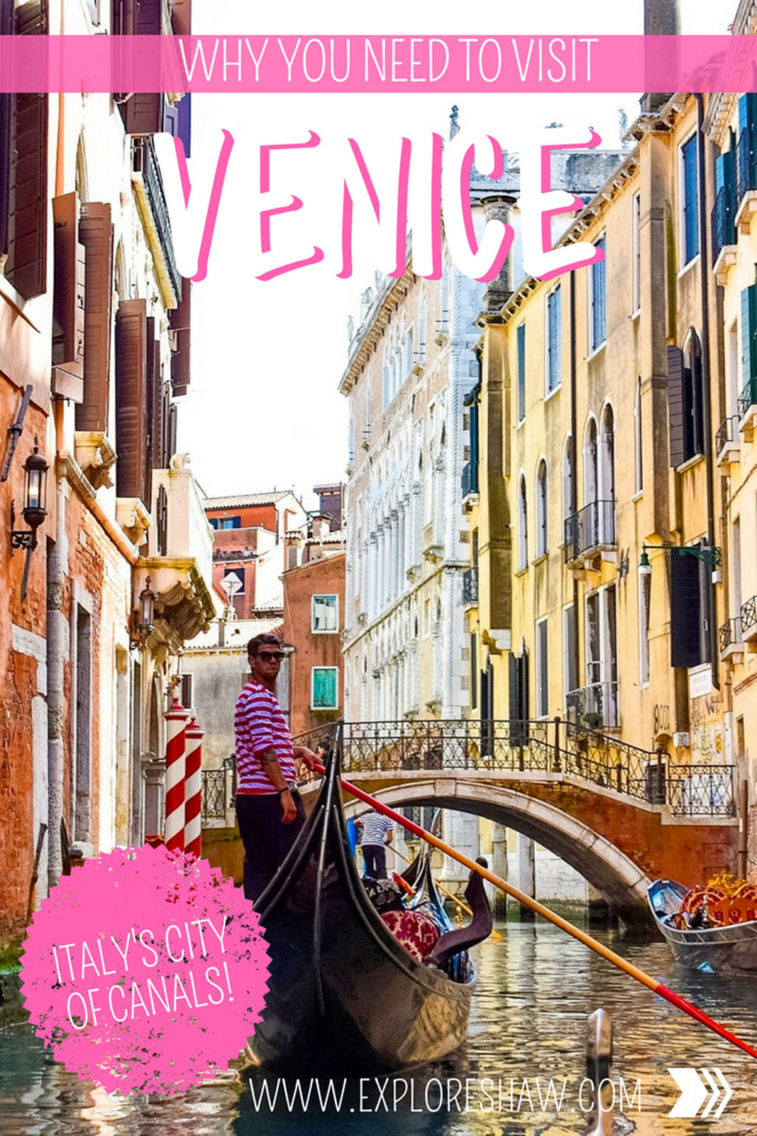 Venice, the city of love. It's a can't miss city in Italy, with so much to explore. Here's everything we love so much about the city on water. #Italy #Venice