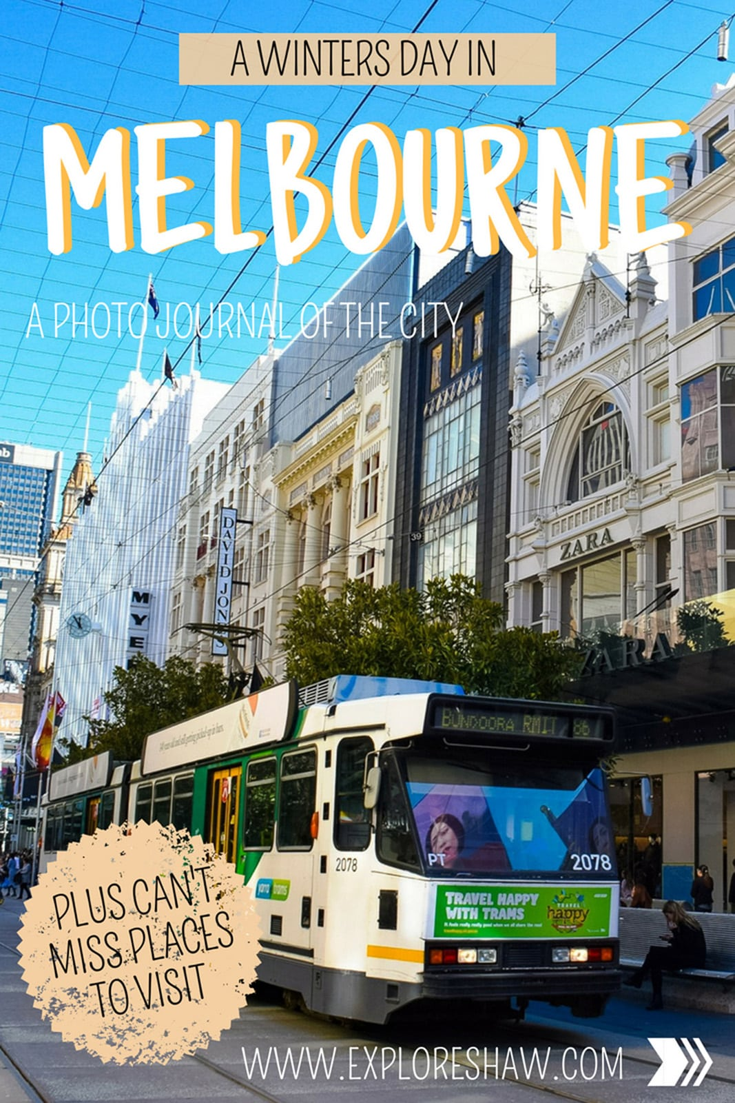 Exploring Melbourne on a sunny winters day - a photo journal.