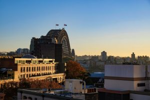 sydney harbour at sunrise