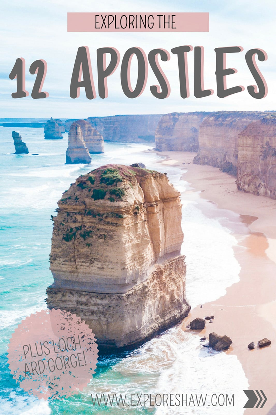 Located approximately four hours from Melbourne in Port Campbell National Park along the Great Ocean Road are these incredible limestone rock stacks standing tall in the Southern Ocean. #Australia #Victoria #TheGreatOceanRoad