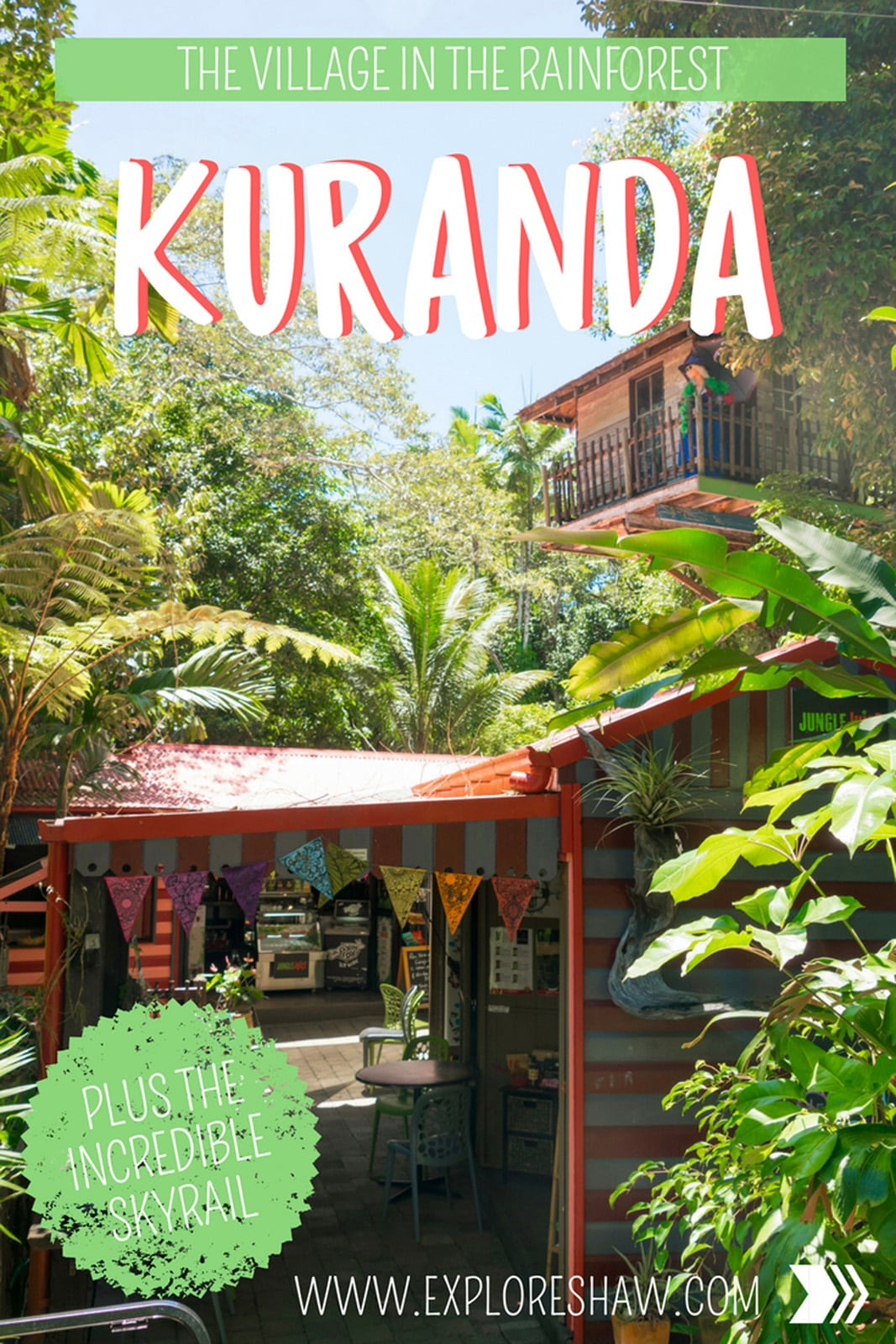 Make the most of your trip to Kuranda by experiencing everything this village in the rainforest has to offer - with heritage markets, the epic skyrail and a historical railway, there's definitely something for everyone. #Australia #Queensland #Kuranda #TropicalNorthQueensland