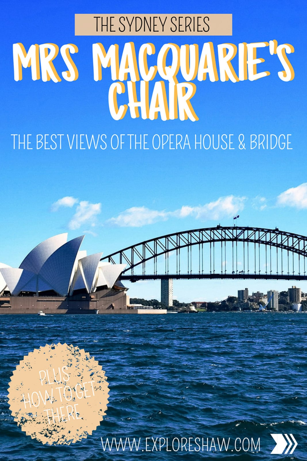 For the best and most iconic view of both Sydney Opera House and the Sydney Harbour Bridge, head to Mrs Macquarie's Chair.