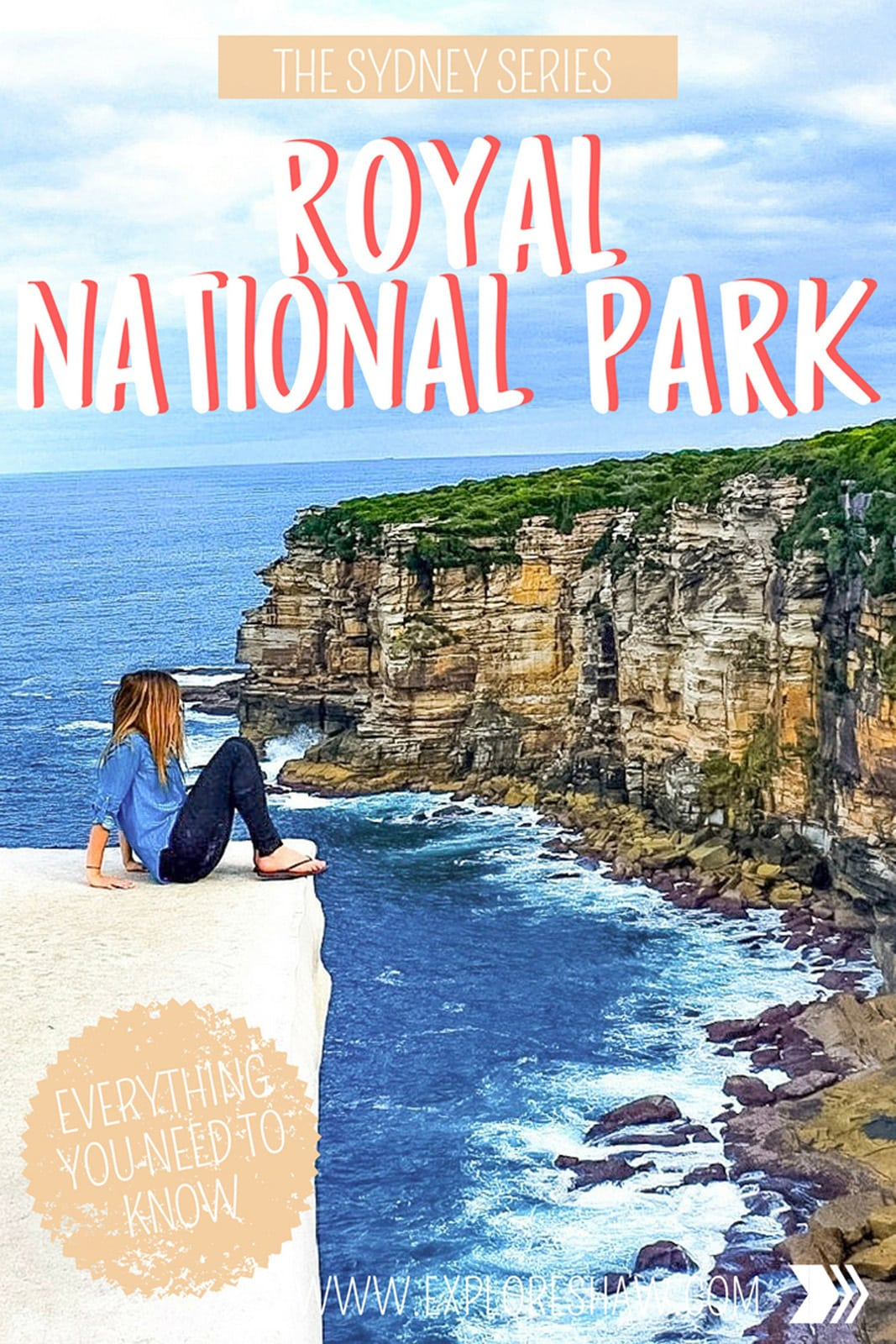 Everything you need to know to hike to and find Wedding Cake Rock in Royal National Park. Make sure you're prepared before you go! #Australia #Sydney #NewSouthWales