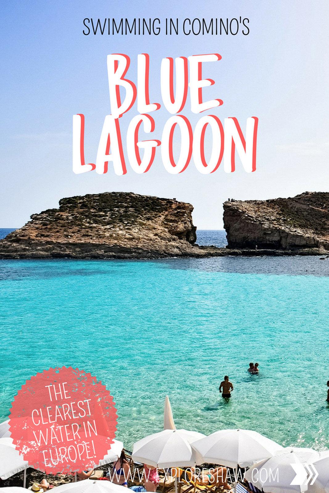 SWIMMING IN COMINO'S BLUE LAGOON