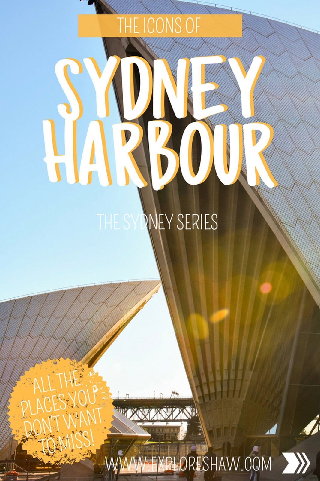 A complete list of all the can't miss experiences and icons of Sydney Harbour that should be on everyone's Sydney bucket list. #Australia #Sydney #NewSouthWales