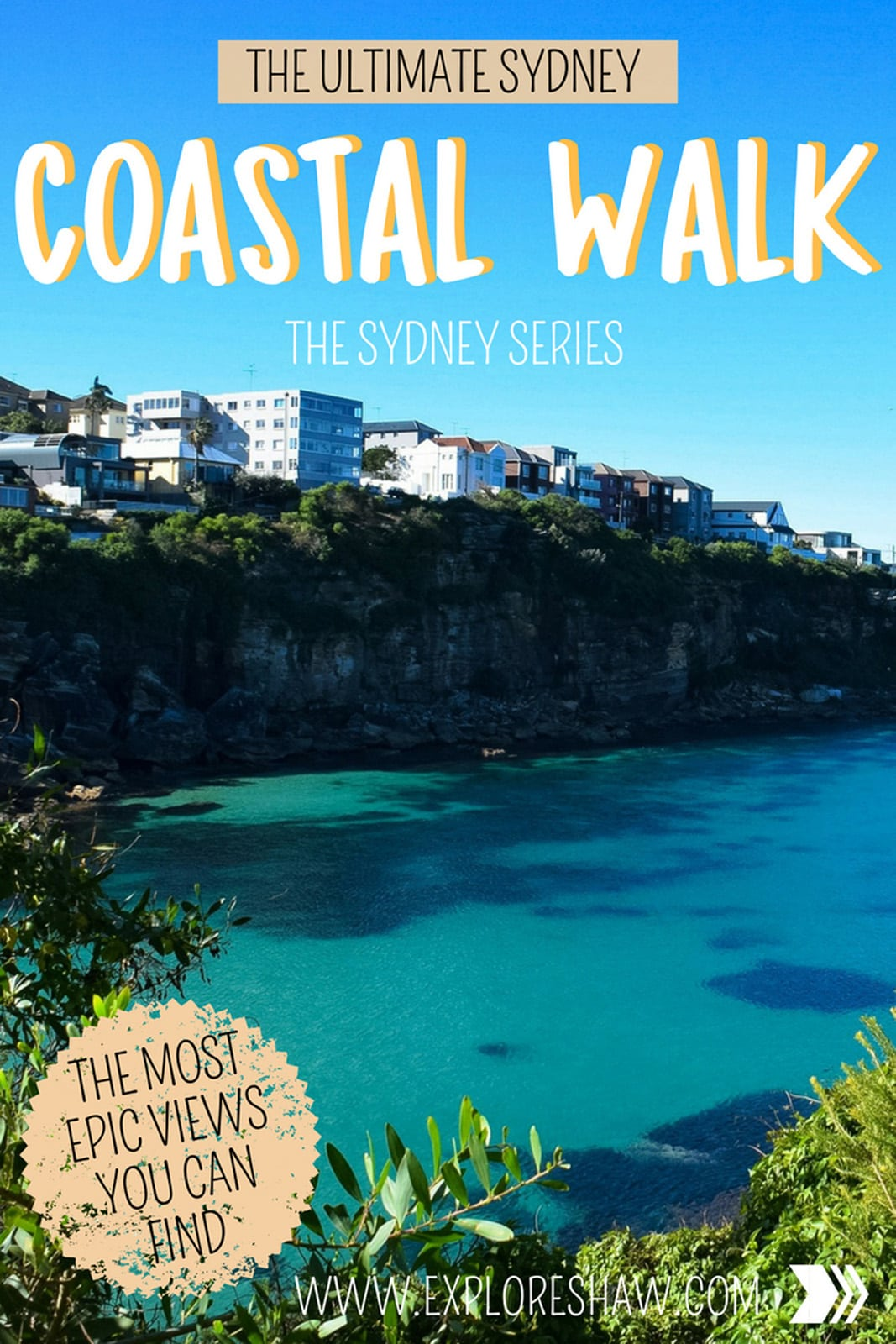 Get some fresh air and exercise while taking the ultimate coastal walk in Sydney from Bondi Beach all the way to Coogee - offering some of the best coastal views in Sydney. #Australia #NewSouthWales #Sydney