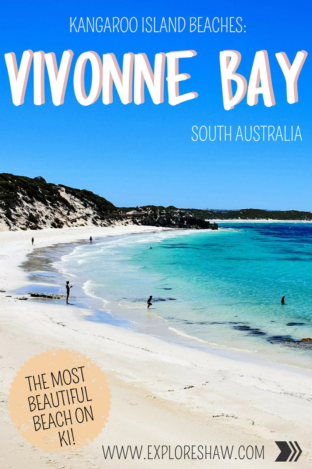 Vivonne Bay is the perfect secluded beach on Kangaroo Island - there's no one around! Check out the best time to visit to have this mini paradise all to yourself. #KangarooIsland #SouthAustralia #Australia #VivonneBay