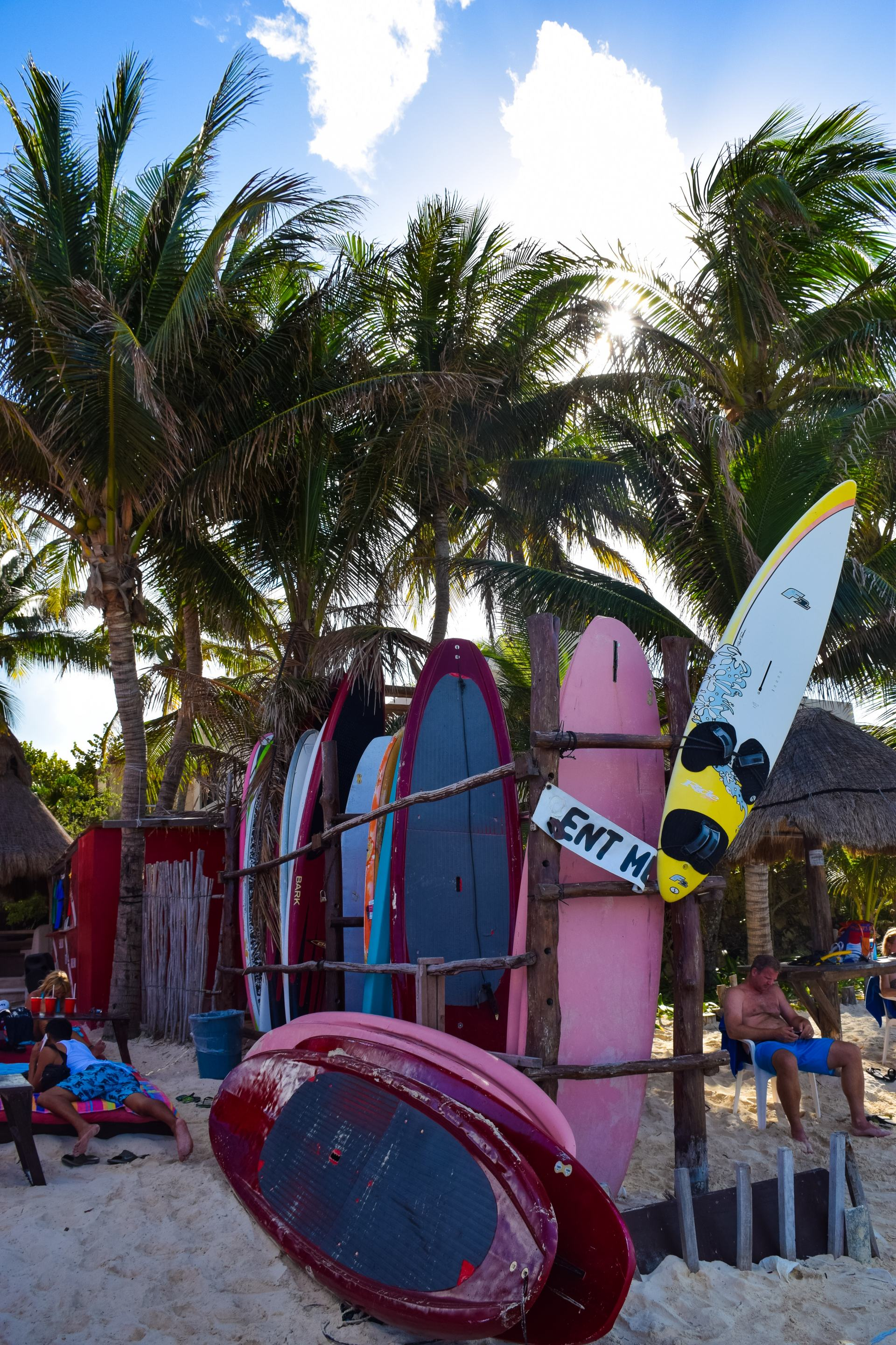 surfboards in isla murejes