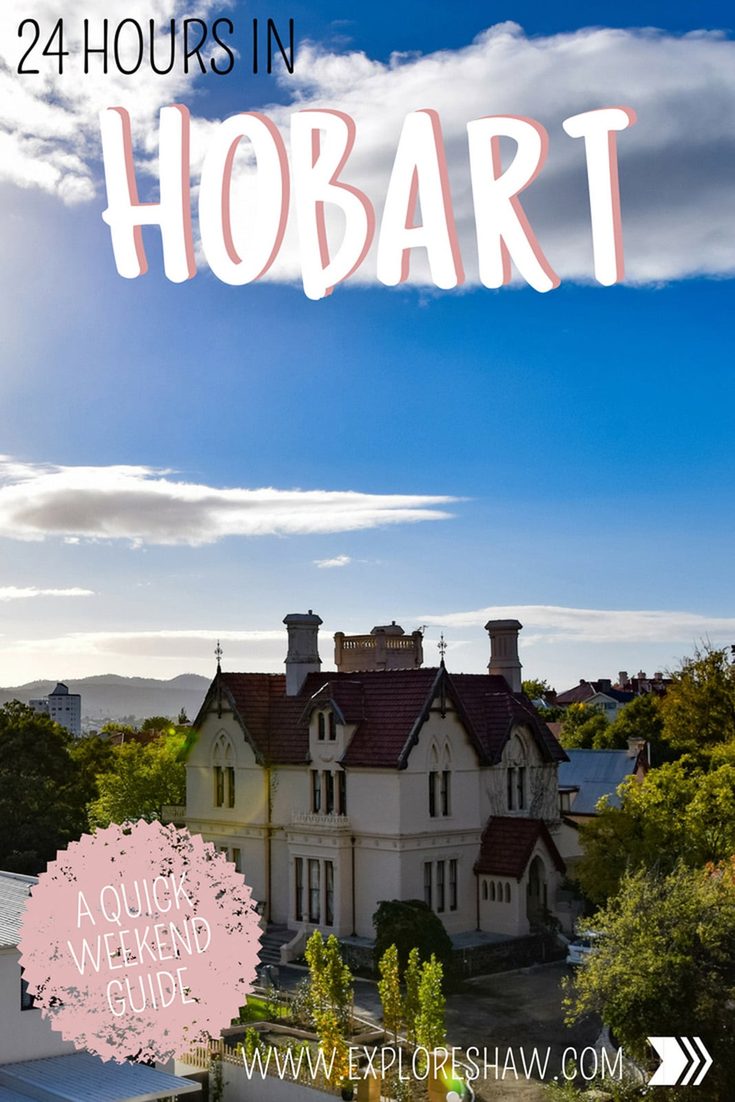 If you've only got 24 hours to spend in Hobart, here's our favourite ways to experience the city on limited time including Salamanca Markets, MONA and Mount Wellington. #Australia #Tasmania #Hobart