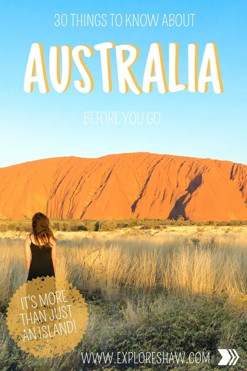 30 THINGS TO KNOW ABOUT AUSTRALIA BEFORE YOU GO