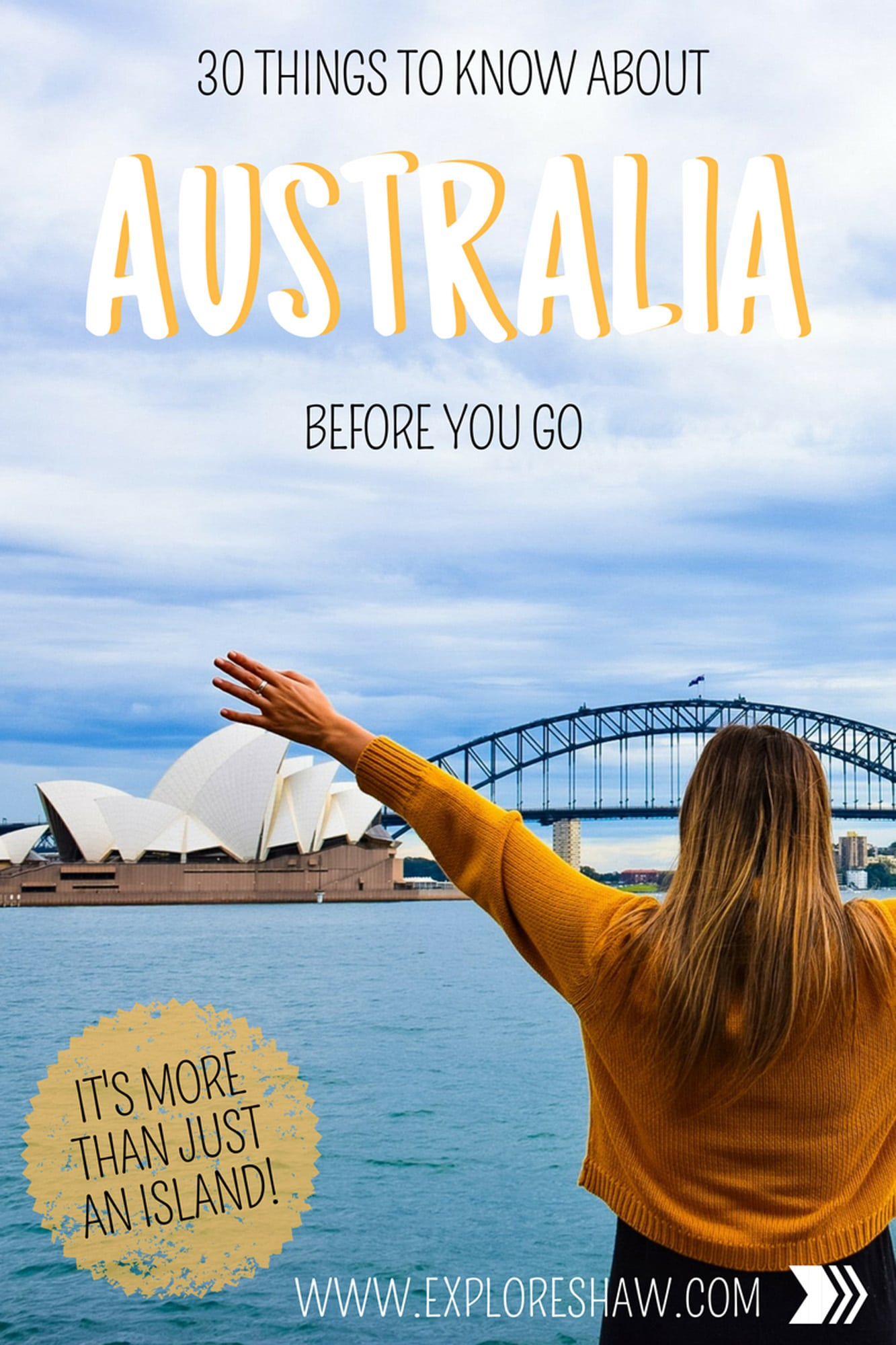 30 Things To Know About Australia Before You Go  Australia might be an island but it's absolutely HUGE and often underestimated by international visitors. Here are 30 things you need to know before you visit Australia for the first time. #Australia