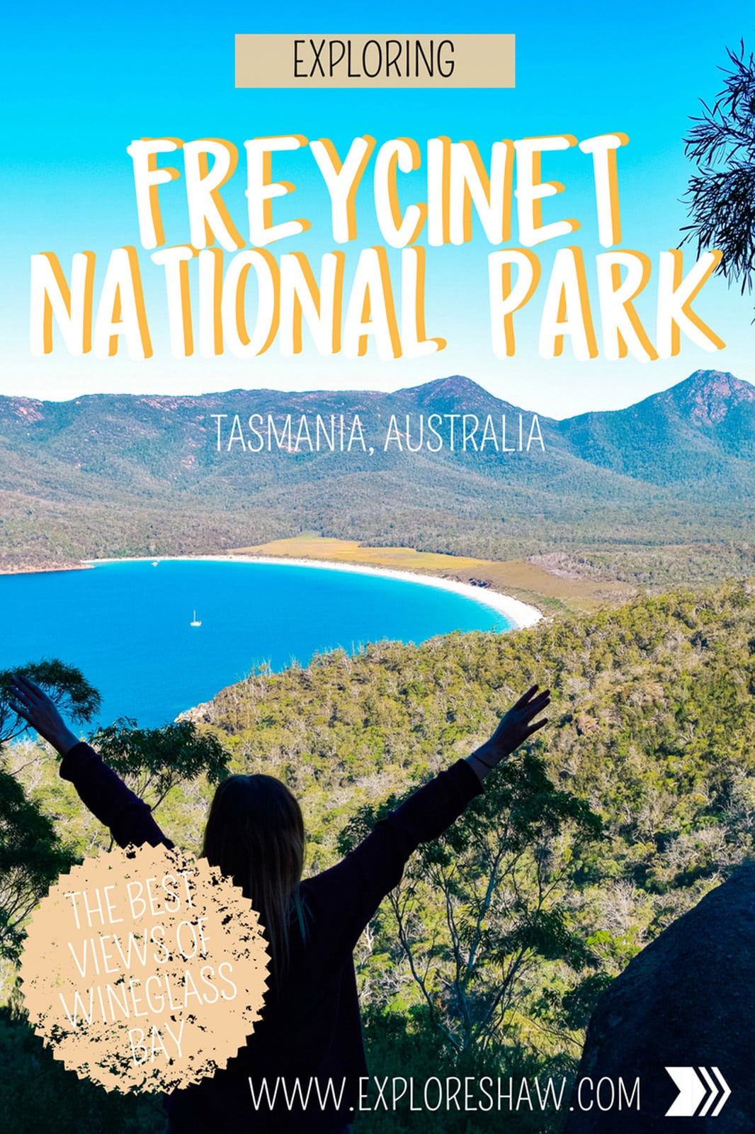 Freycinet National Park, the home to Wineglass Bay is just outside of Coles Bay on the east coast of Tasmania. Here's what you need to know for your visit including where to stay and what to do. #Australia #Tasmania #FreycinetNationalPark