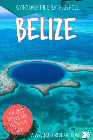 FLYING OVER THE GREAT BLUE HOLE BELIZE