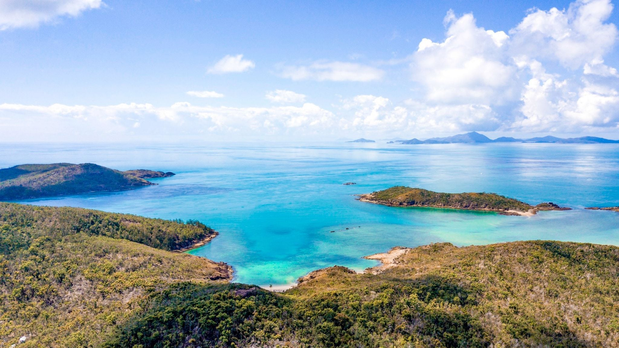 view over the whitsundays
