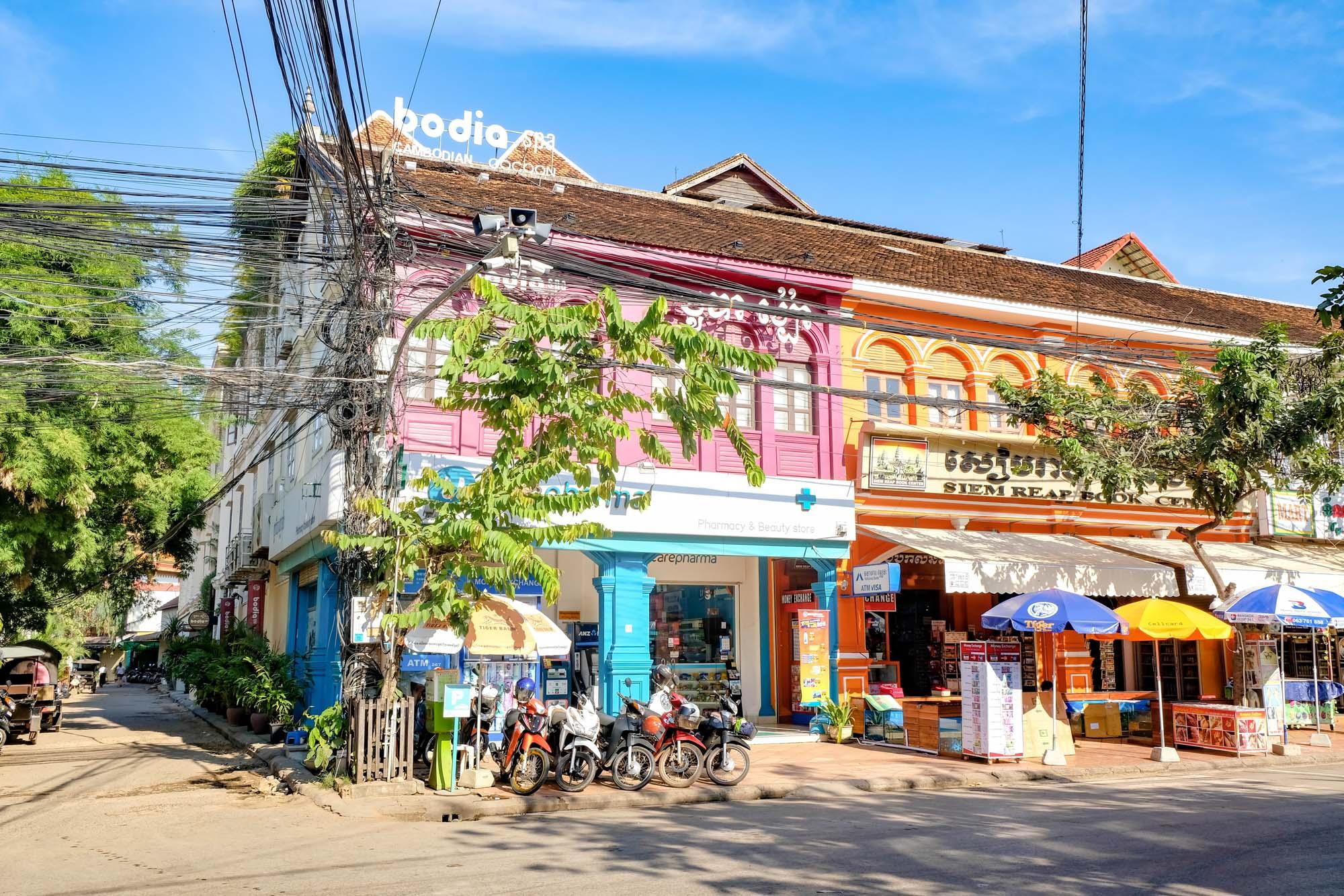 colourful buildings in siem reap