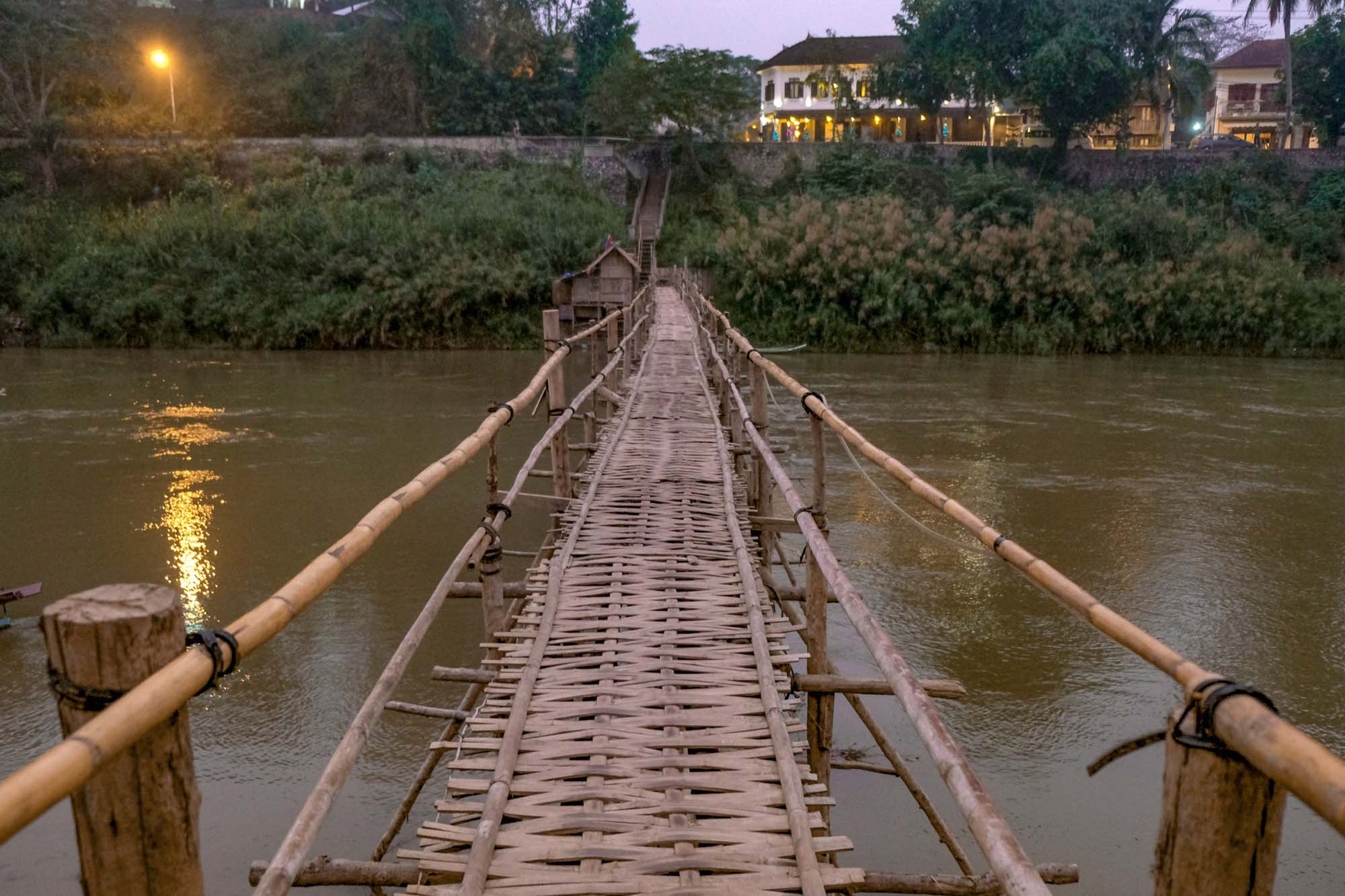 hand made bridge in luang prabang