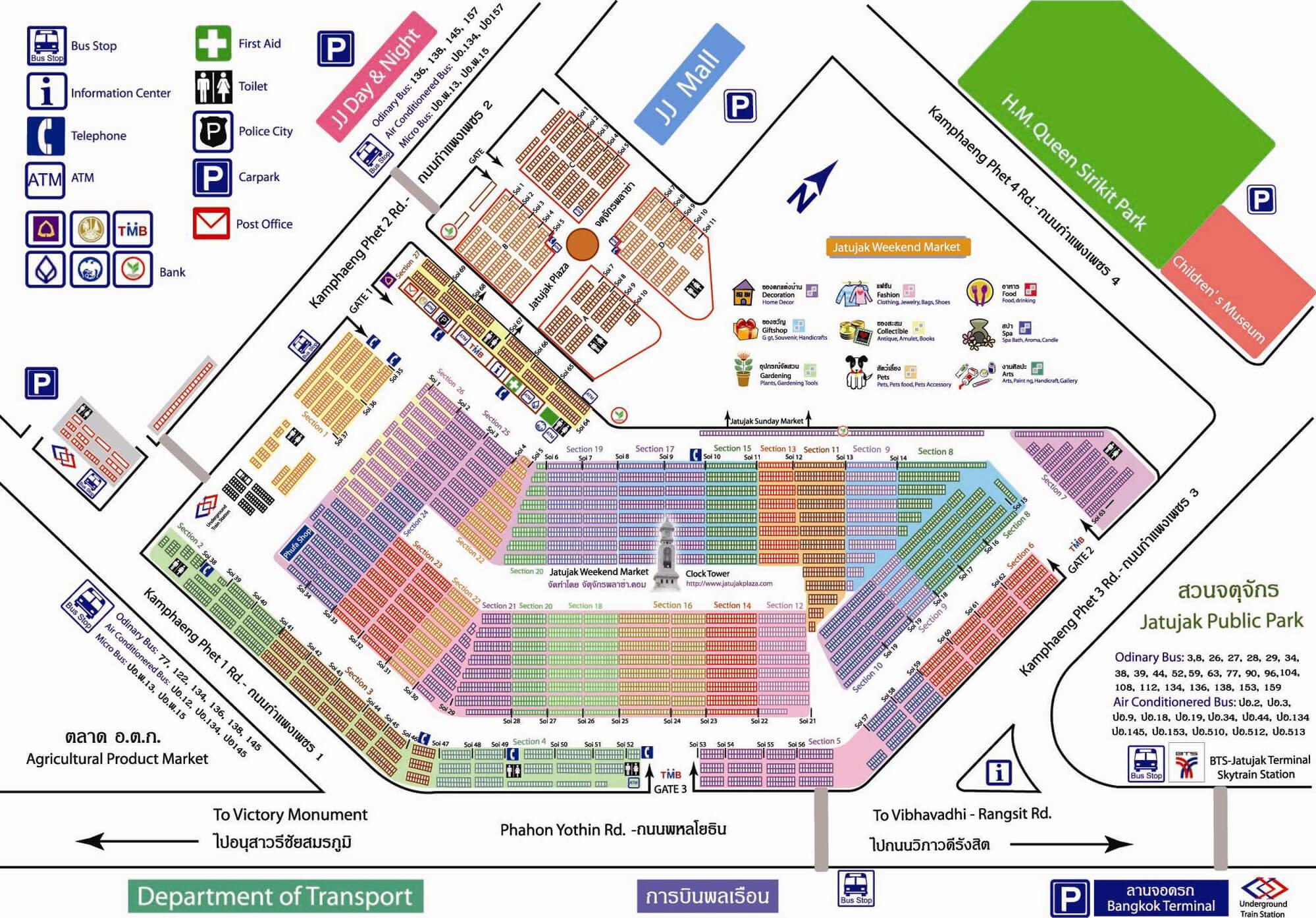 Map of Chatuchak Weekend Market