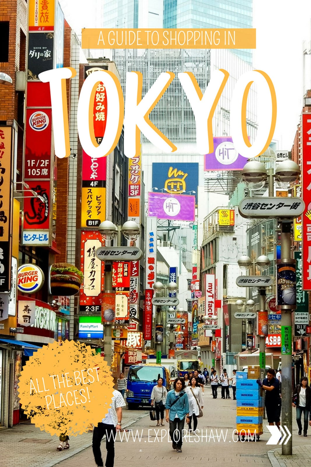 A guide to shopping in all the different districts of Tokyo - where you can find the best markets, high end stores and souvenirs! #Japan #Tokyo