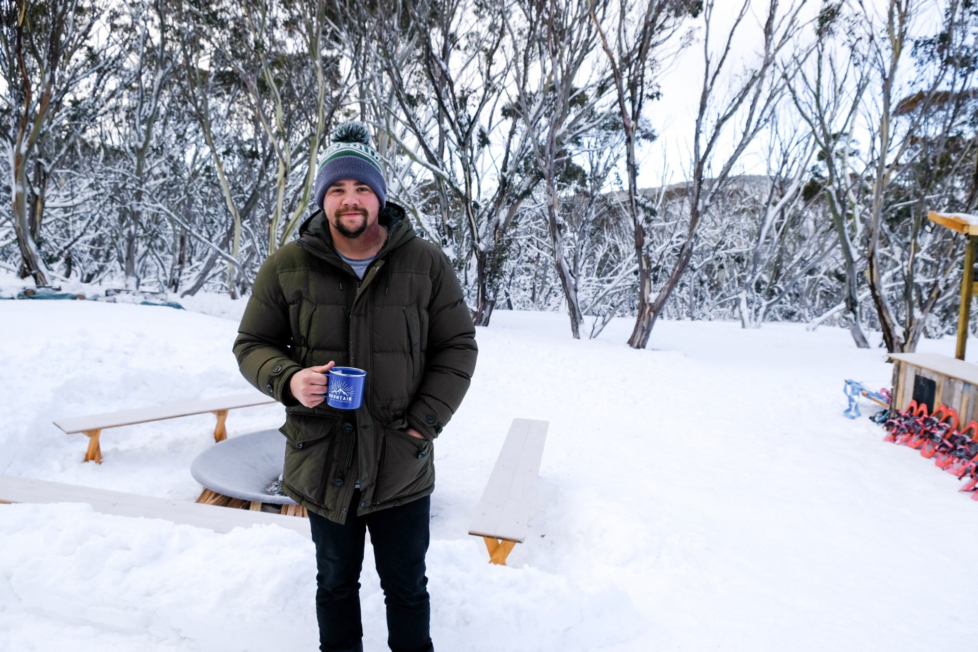 drink hot chocolate at mount hotham