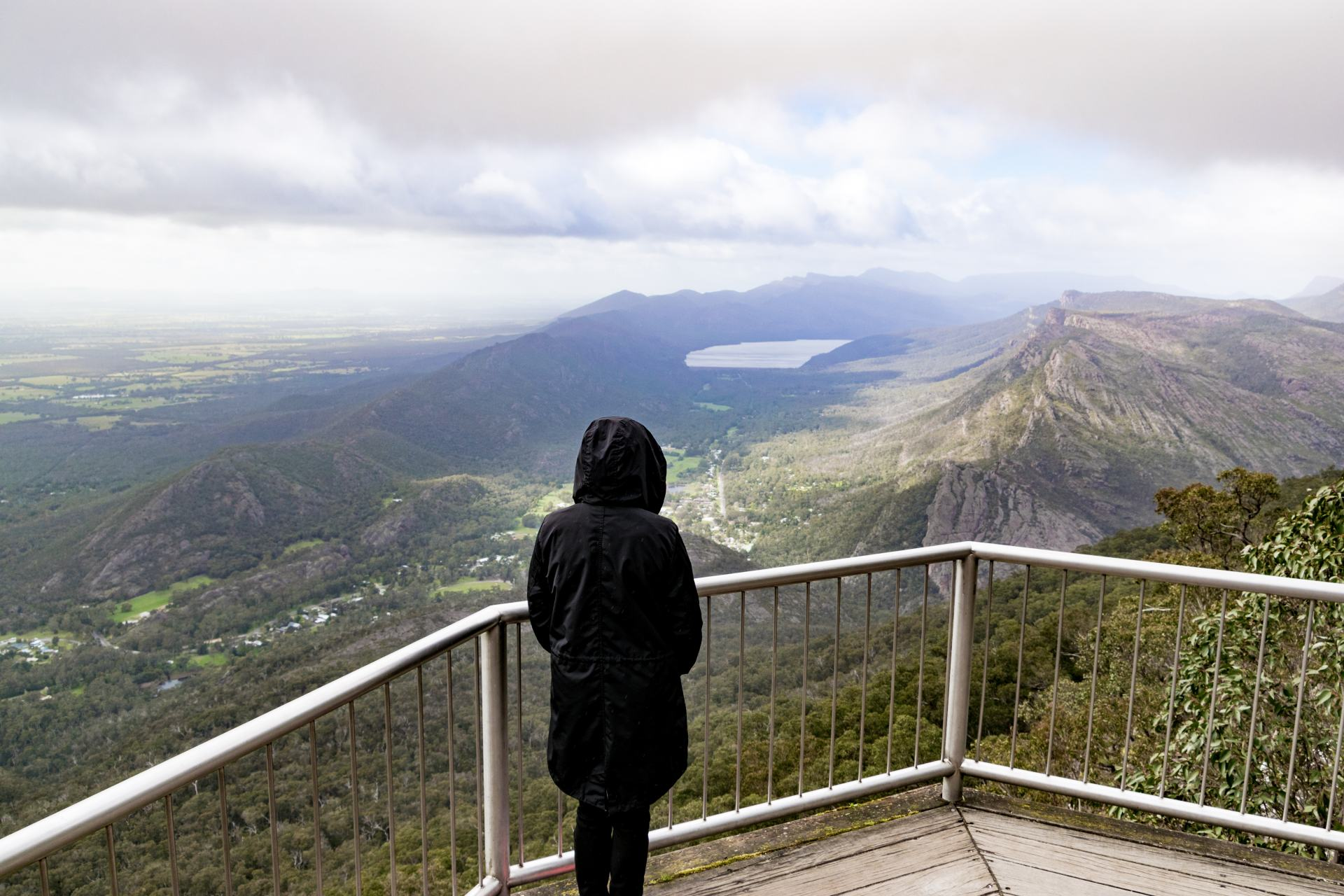 lookout platform in the grampians