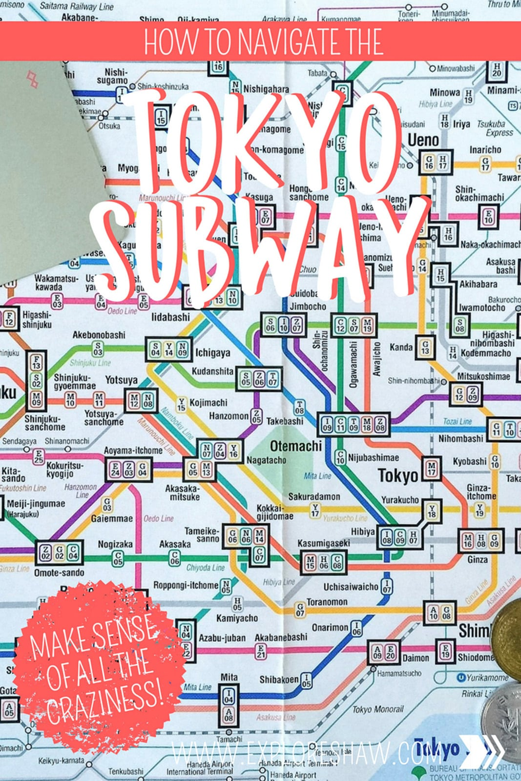 This might just be the most efficient train system in the world! Here's everything you need to know about getting around Tokyo on the subway. #Japan #Tokyo