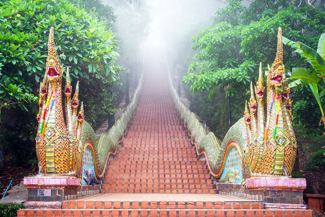 stairway to Wat Phra That Doi Suthep