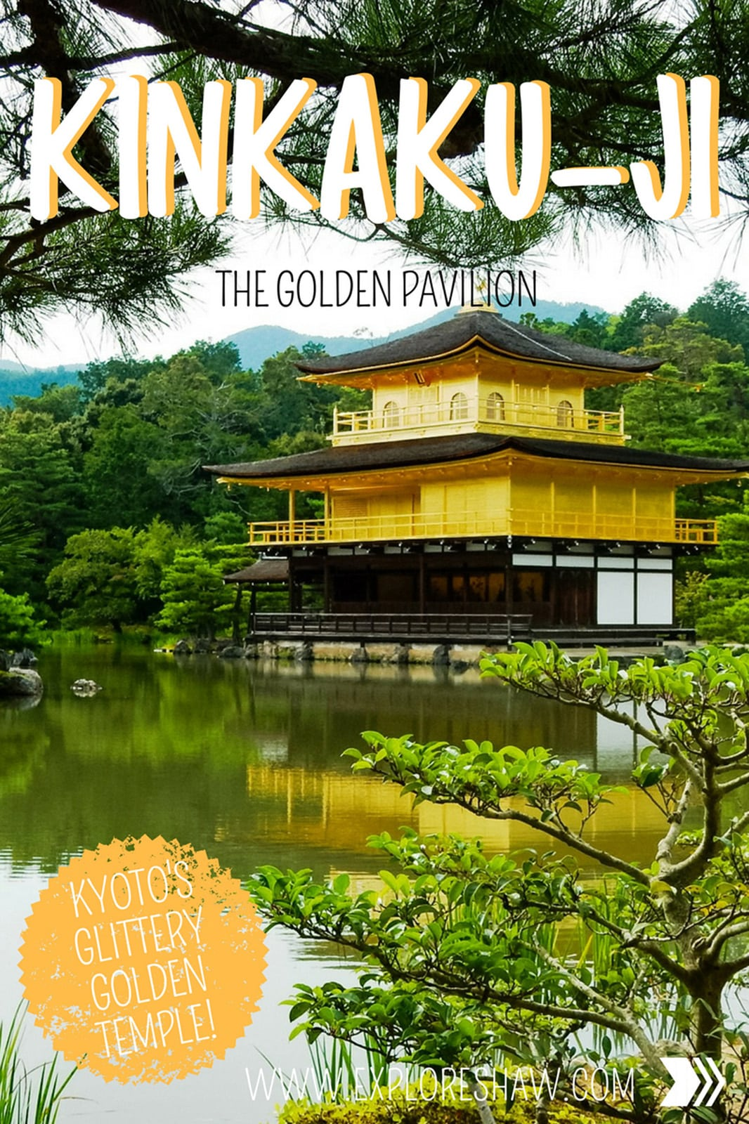 Kinkaku-ji金閣寺 the Golden Pavilion. Kinkaku-ji is a Zen temple in northern Kyoto, whose top two floors are completely covered in gold leaf. #Japan #Kyoto