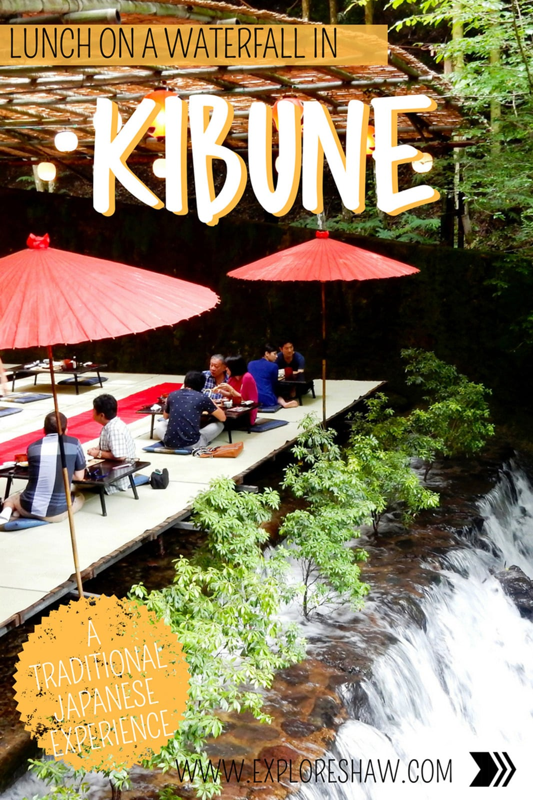 For a completely unique experience in the forest of Kyoto in Japan, how about a traditional lunch on a waterfall in Kibune! #Japan #Kibune