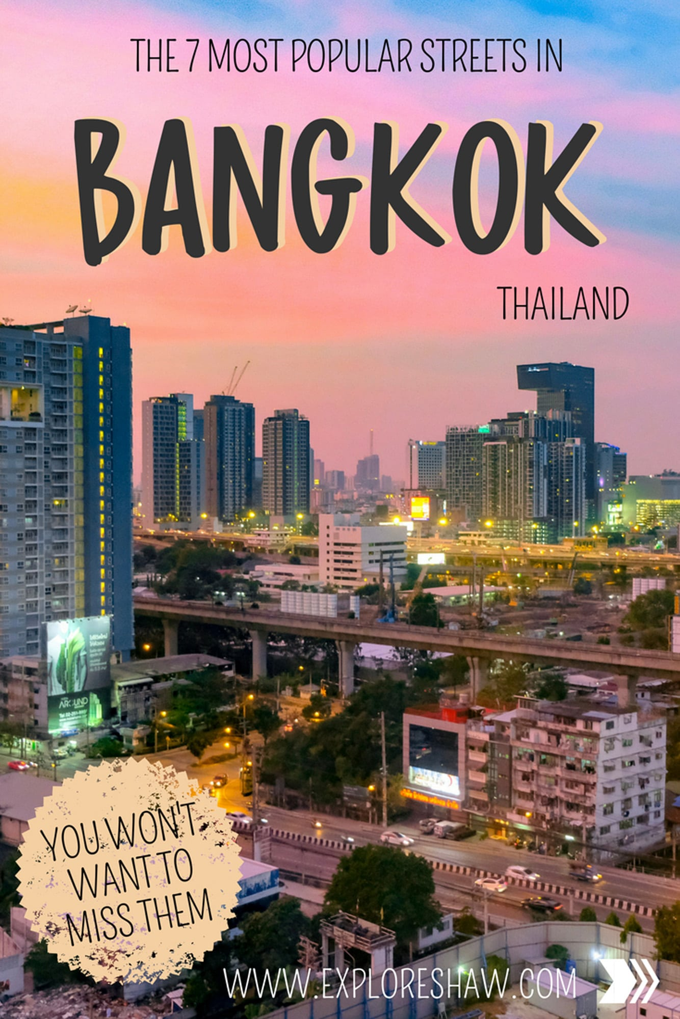 The 7 Most Popular Streets In Bangkok