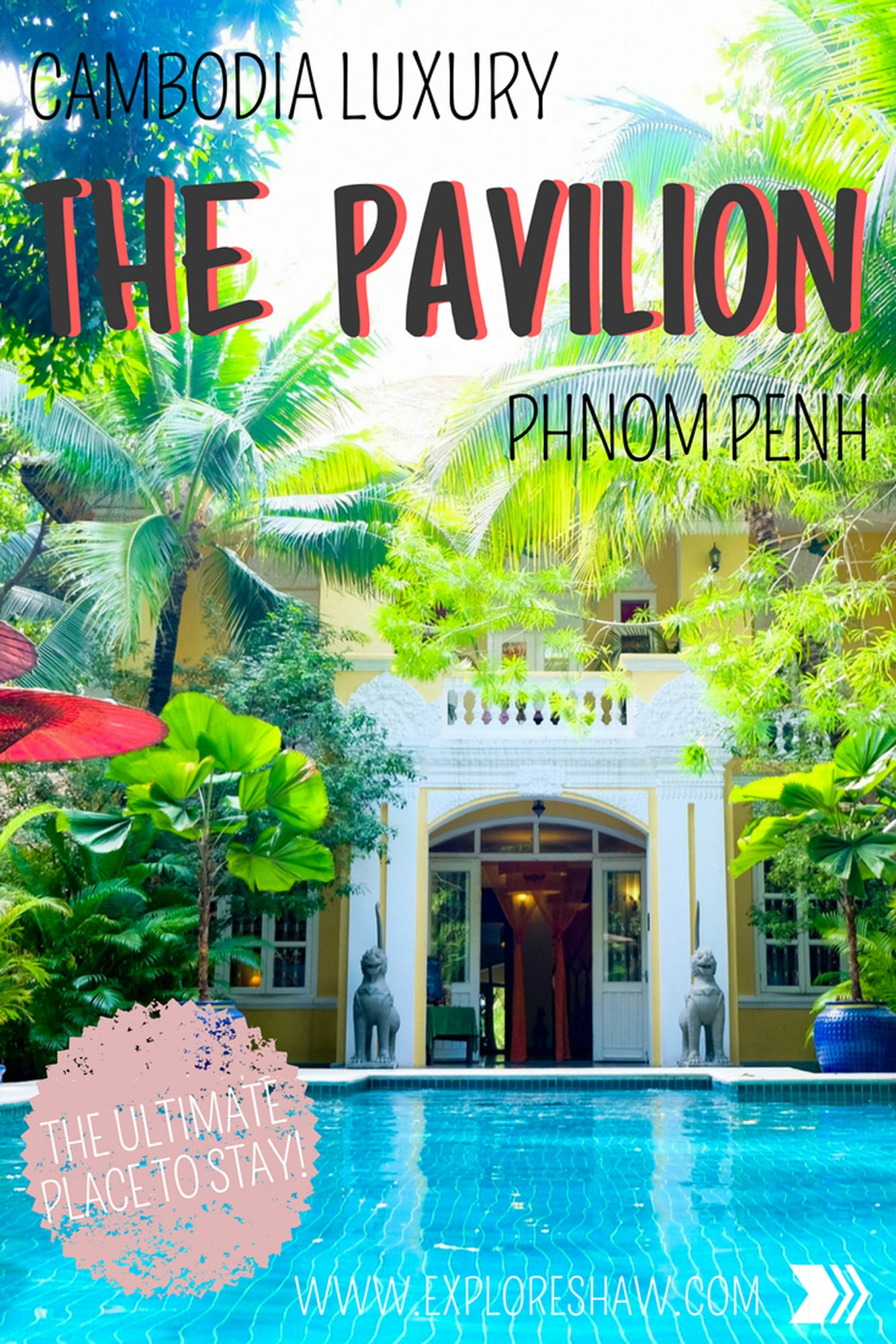 The Pavilion offers a complete sense of tranquility and relaxation from the moment you step through the doors. Everything is peaceful and welcoming and simply just beautiful.  #Cambodia #PhnomPenh #HotelReview