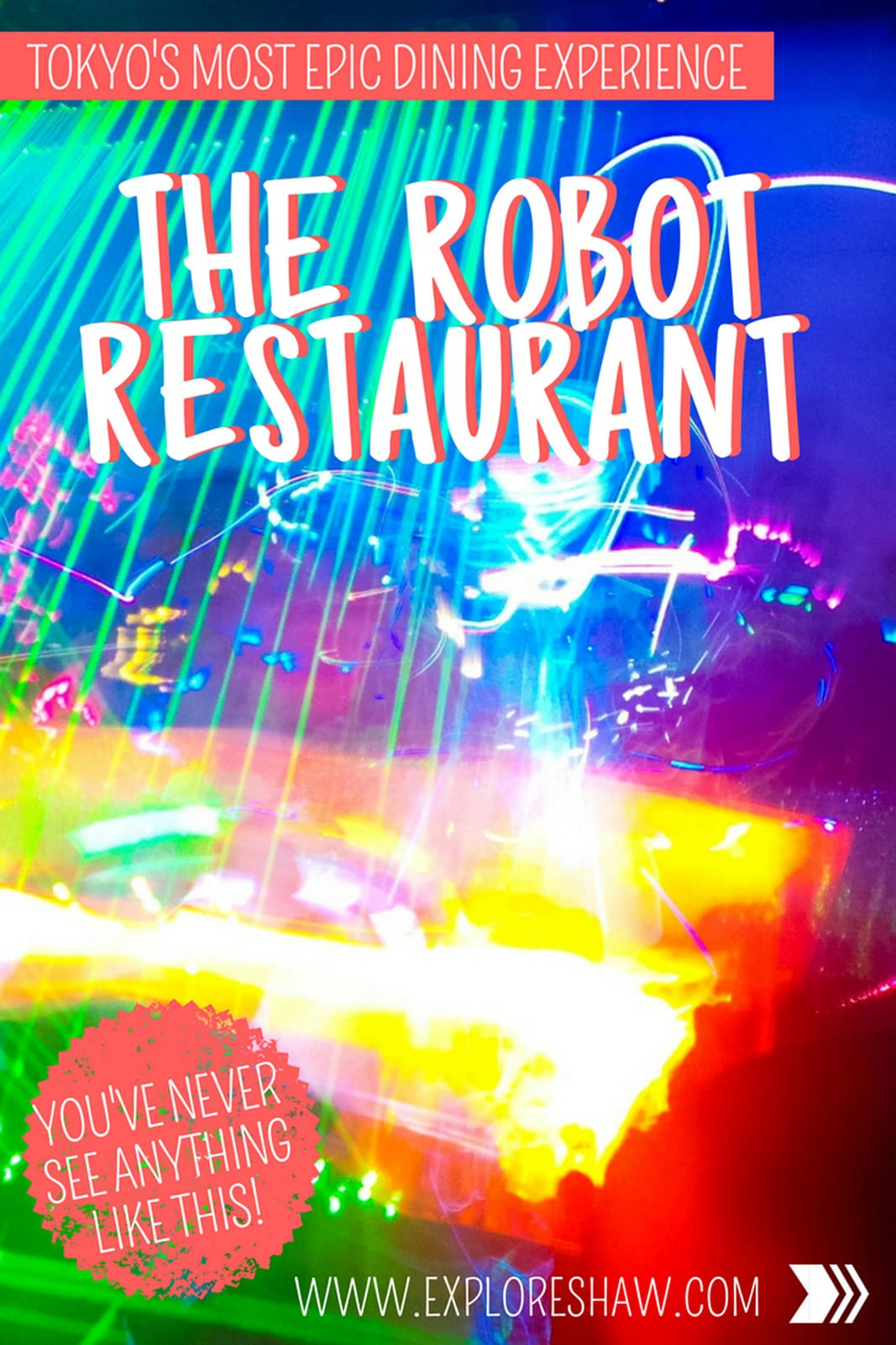 For one of the craziest futuristic shows in Japan, you need to book a table at the Robot Restaurant and experience this insane Japanese cabaret show. #Japan #Tokyo