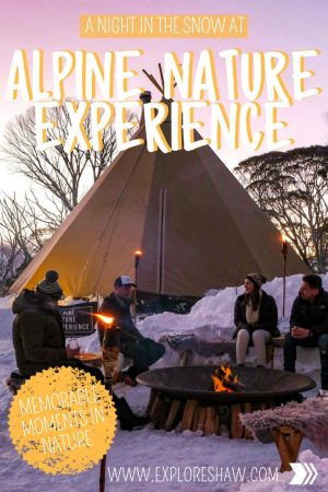 A NIGHT AT THE SNOW AT ALPINE NATURE EXPERIENCE