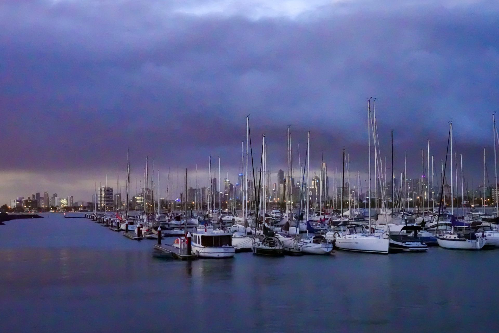 st kilda marina at night
