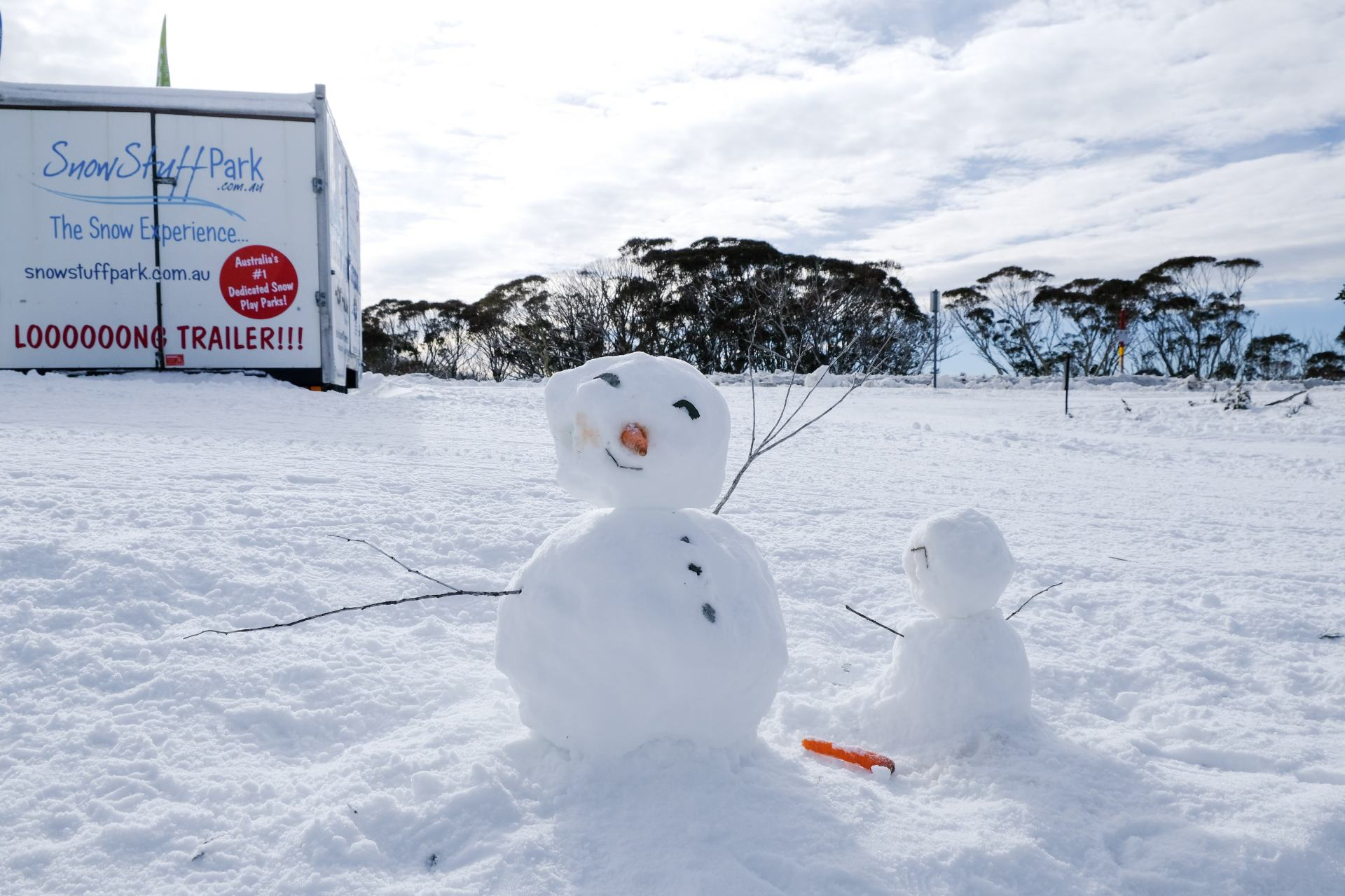 snow man at mount hotham