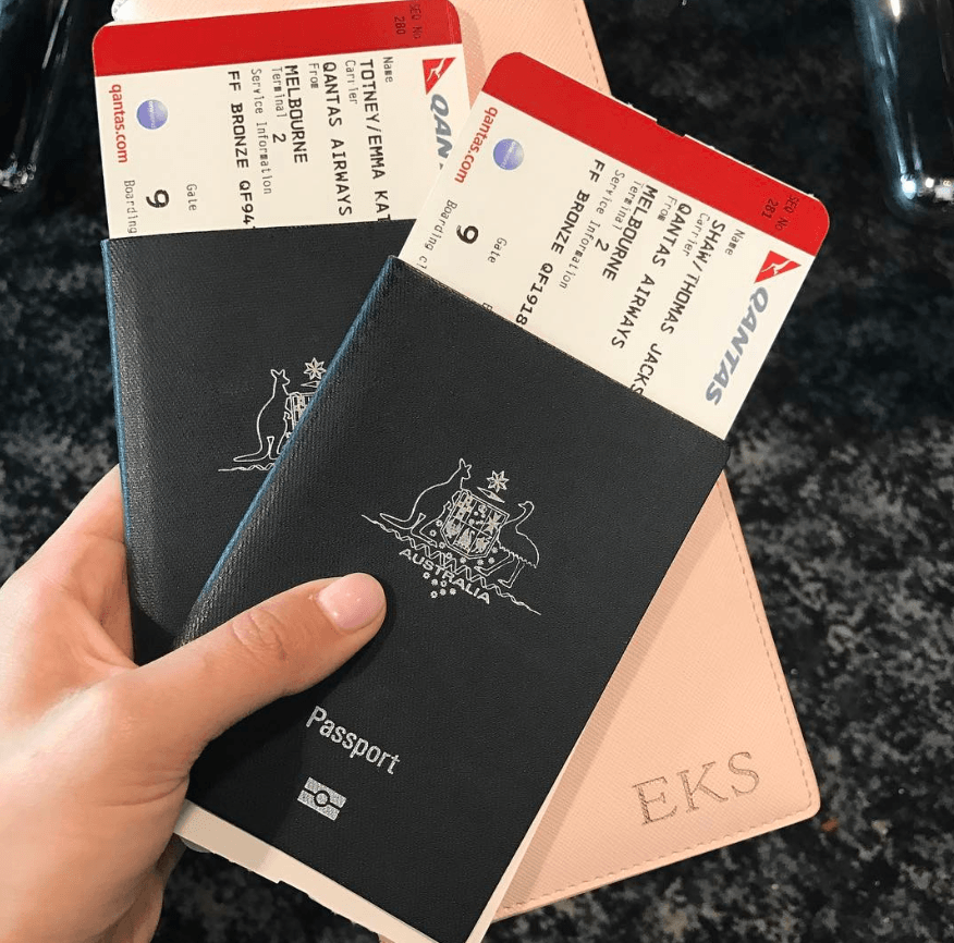 australian passports and travel wallet