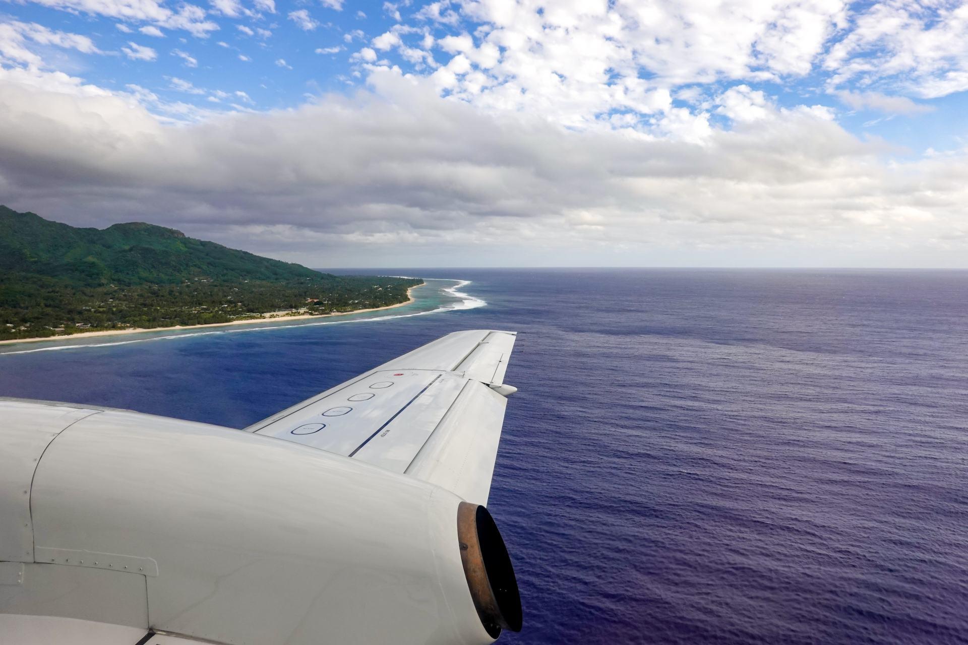 flying into rarotonga