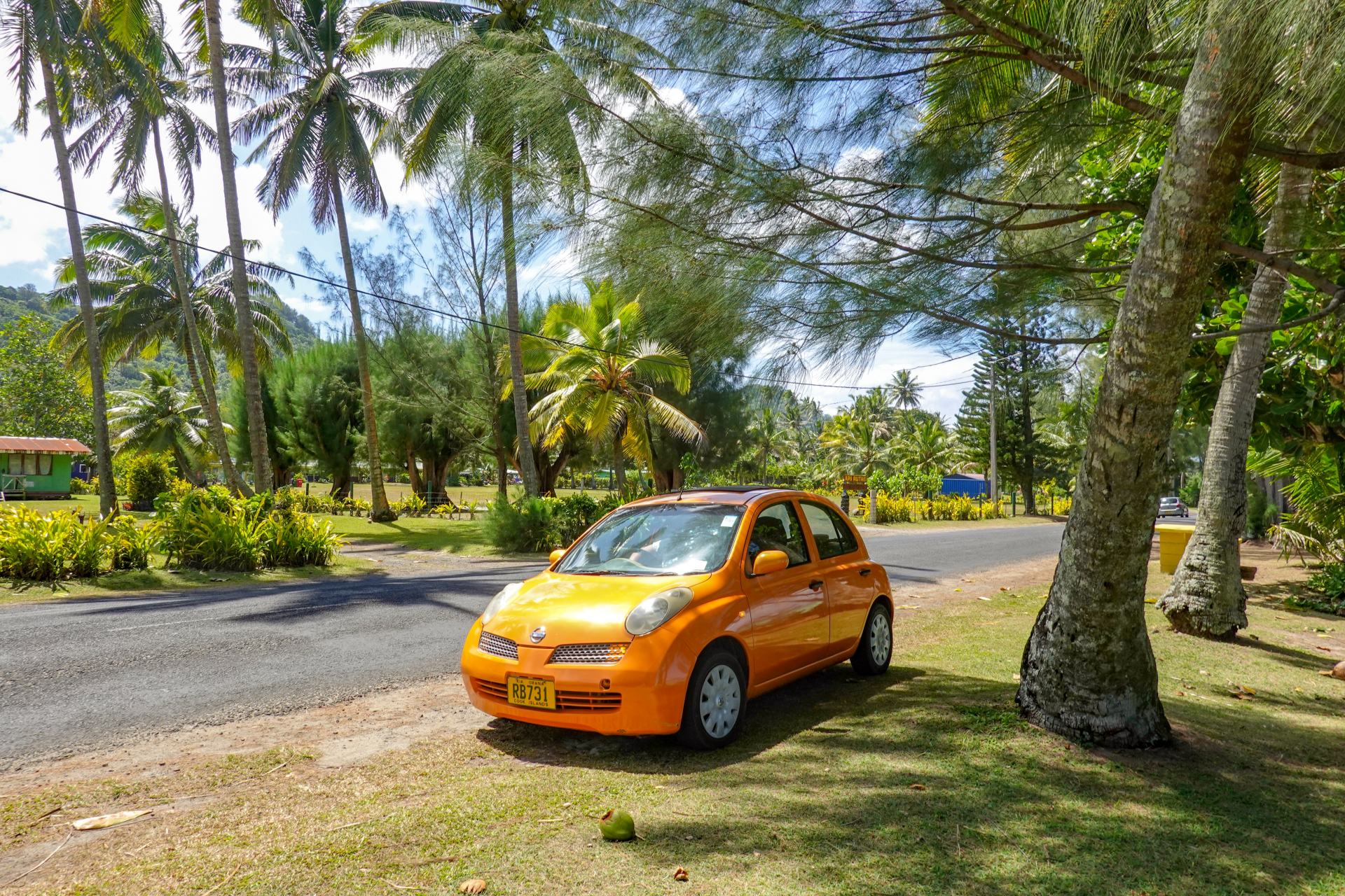 renting a car in the cook islands