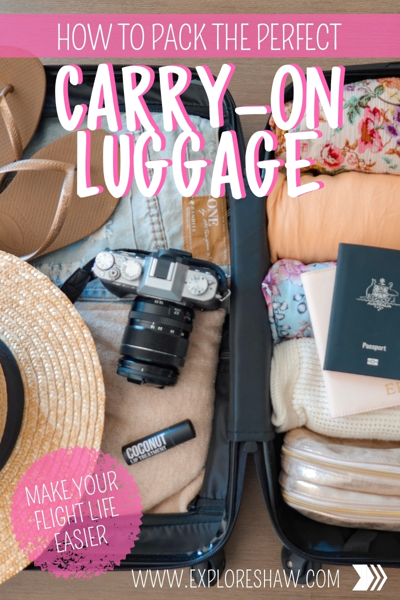 HOW TO PACK THE PERFECT CARRY ON LUGGAGE