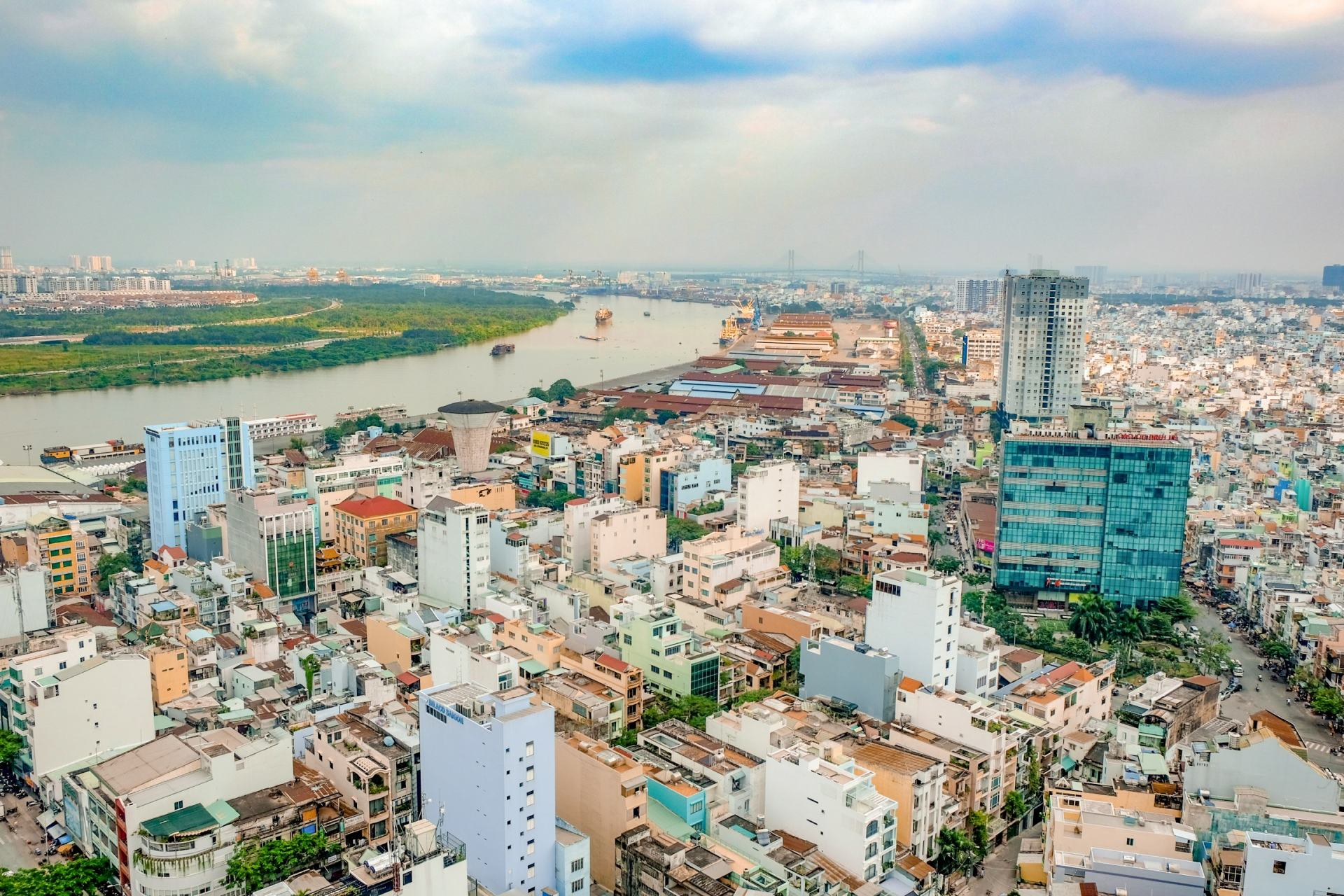 views over ho chi minh city