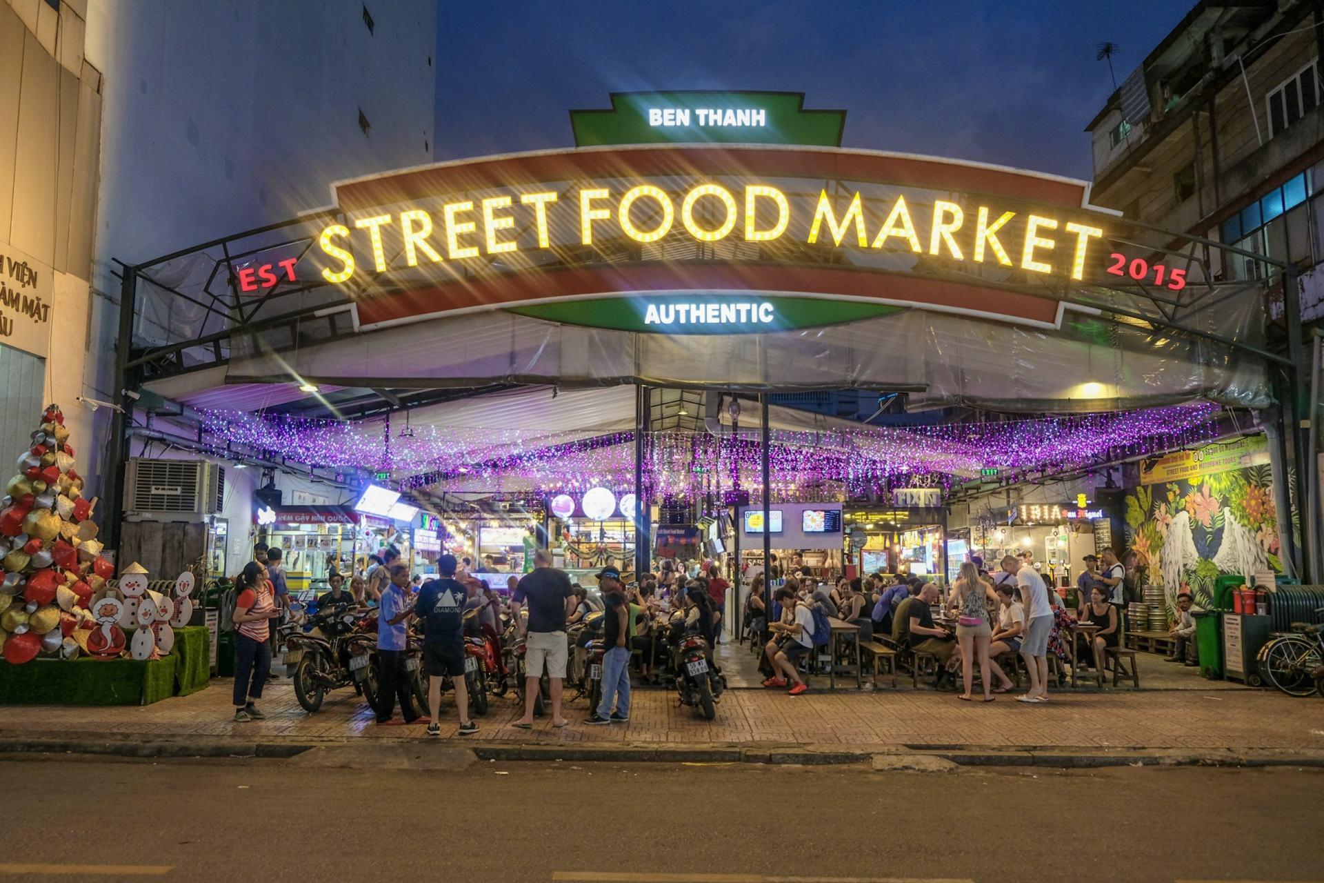 street food market vietnam