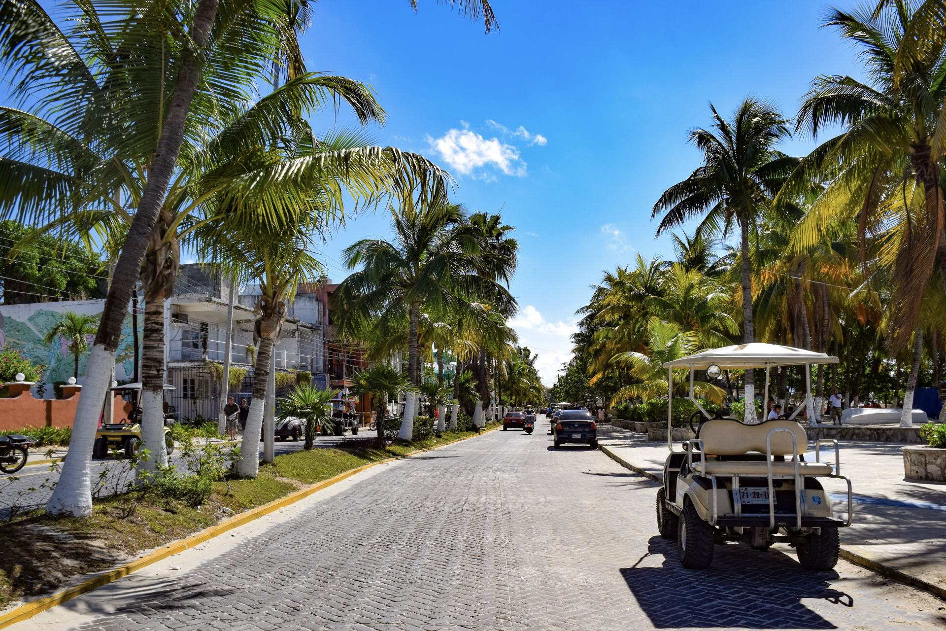 renting a golf cart in isla mujeres