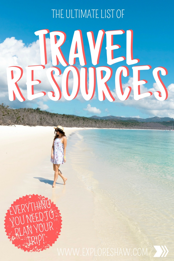 THE ULTIMATE LIST OF TRAVEL RESOURCES