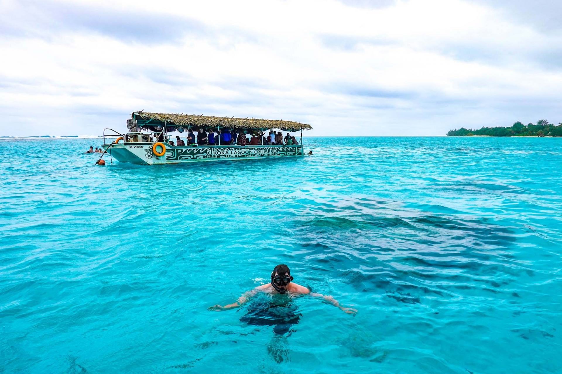 koka lagoon cruise in the cook islands
