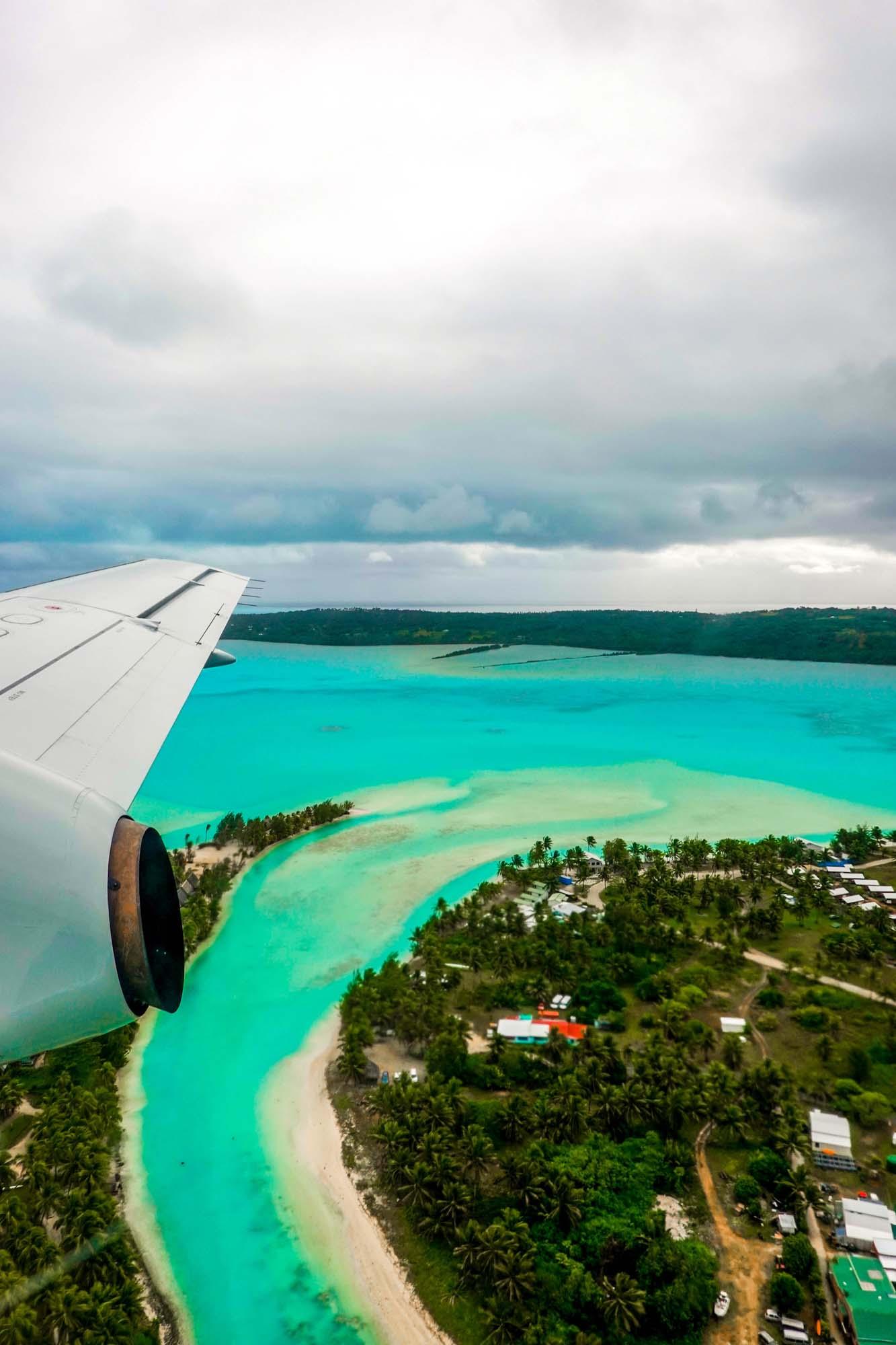 landing in rarotonga