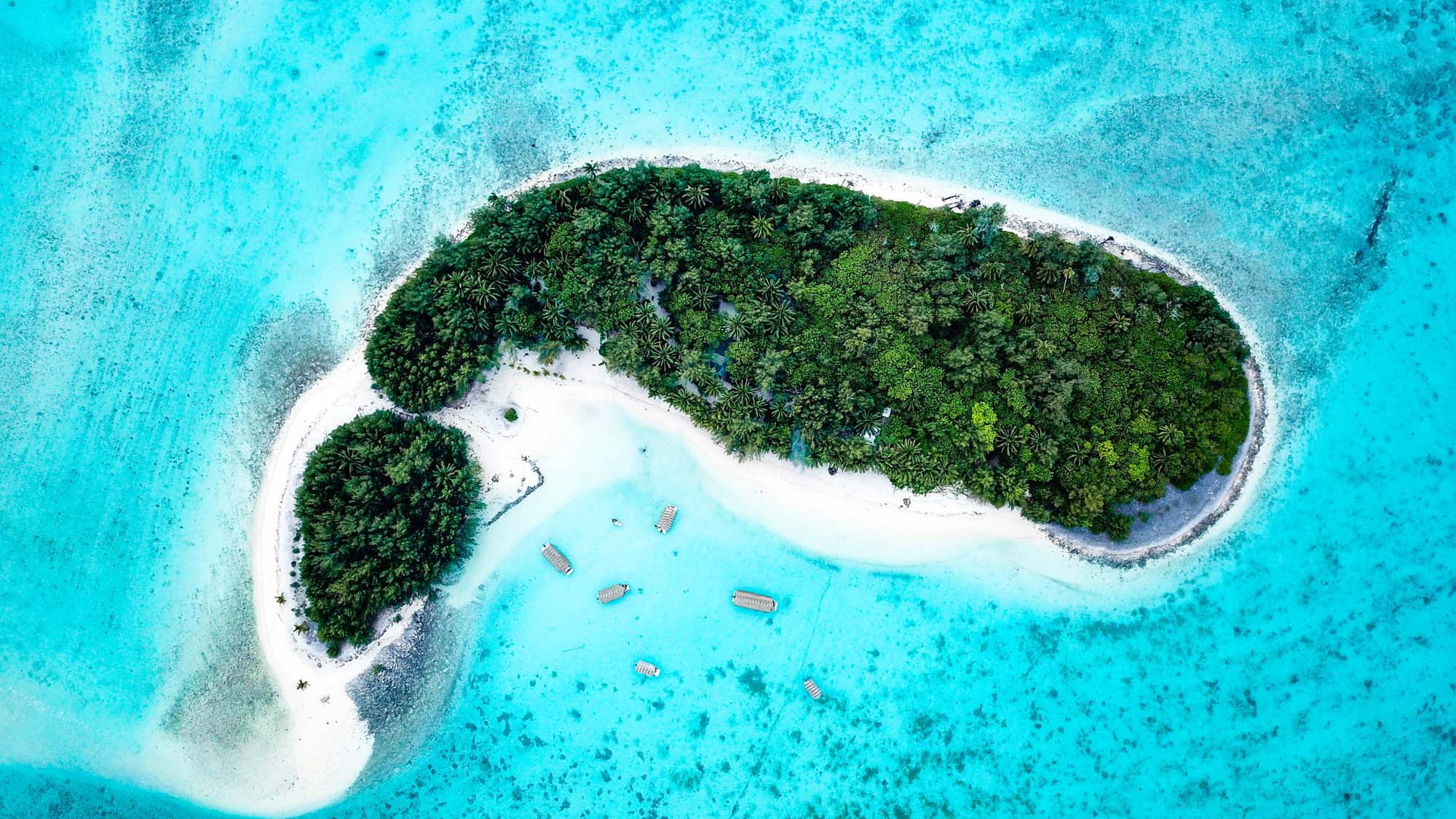 aerial view of koromiri island